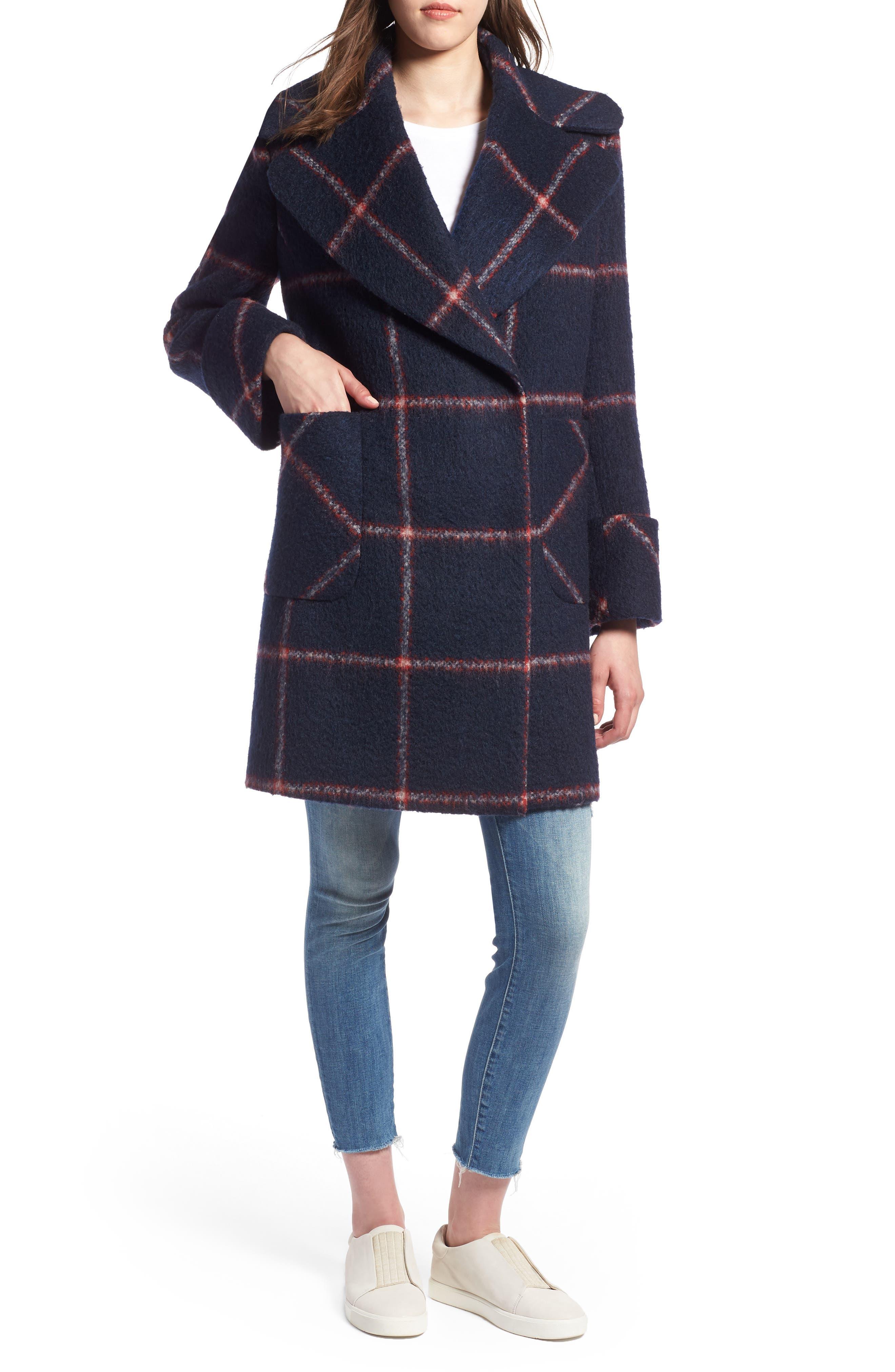 KENDALL + KYLIE, Oversize Collar Coat, Main thumbnail 1, color, 427