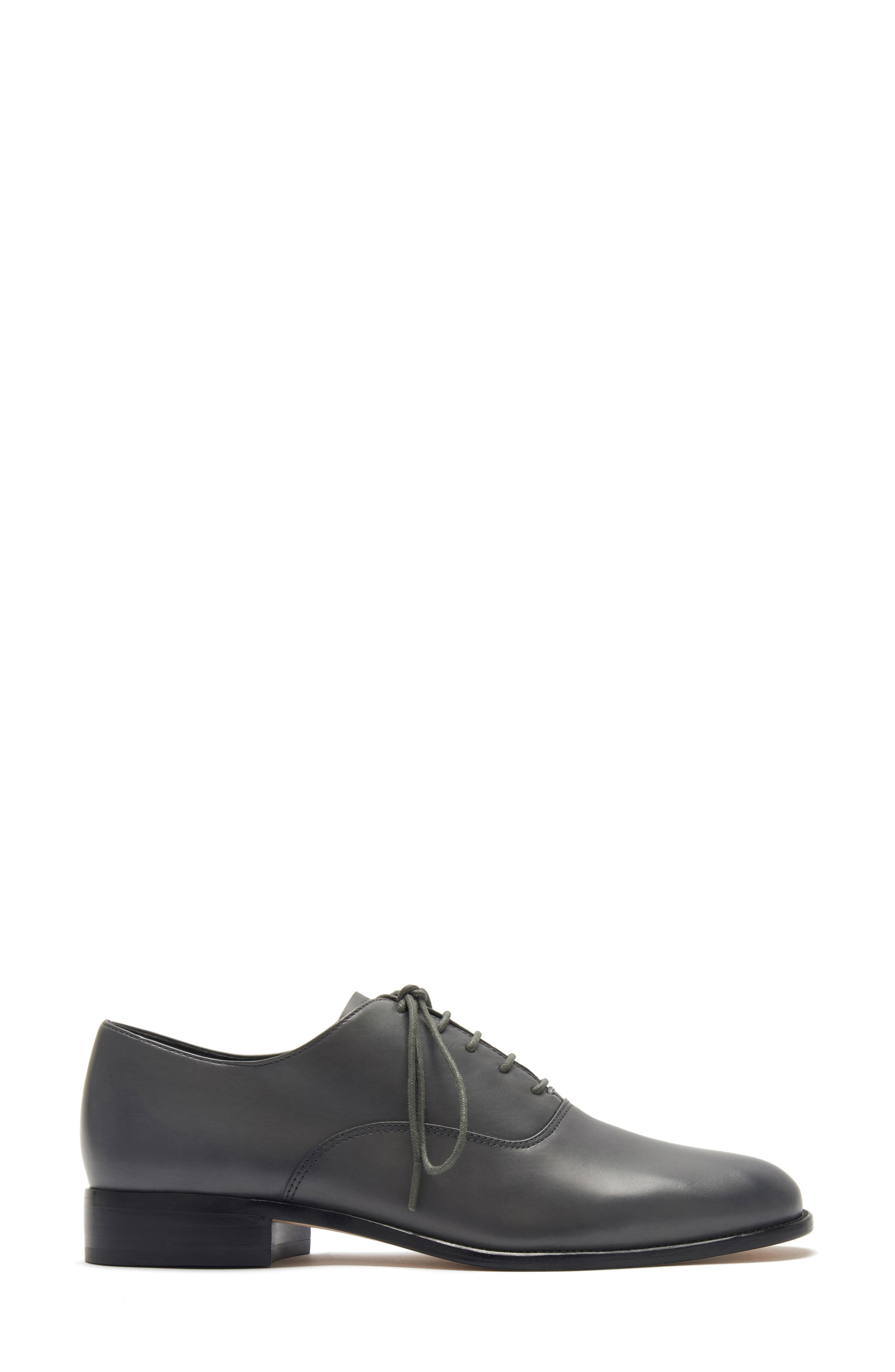 ETIENNE AIGNER, Emery Lace-Up Oxford, Alternate thumbnail 2, color, GRANITE LEATHER