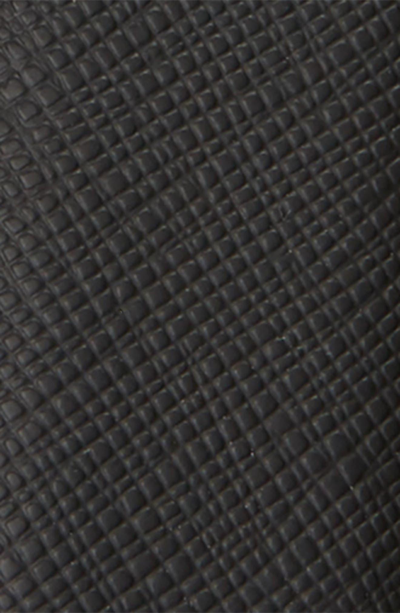 MONTBLANC, Horseshoe Buckle Reversible Sartorial Leather Belt, Alternate thumbnail 3, color, BLACK/ BROWN