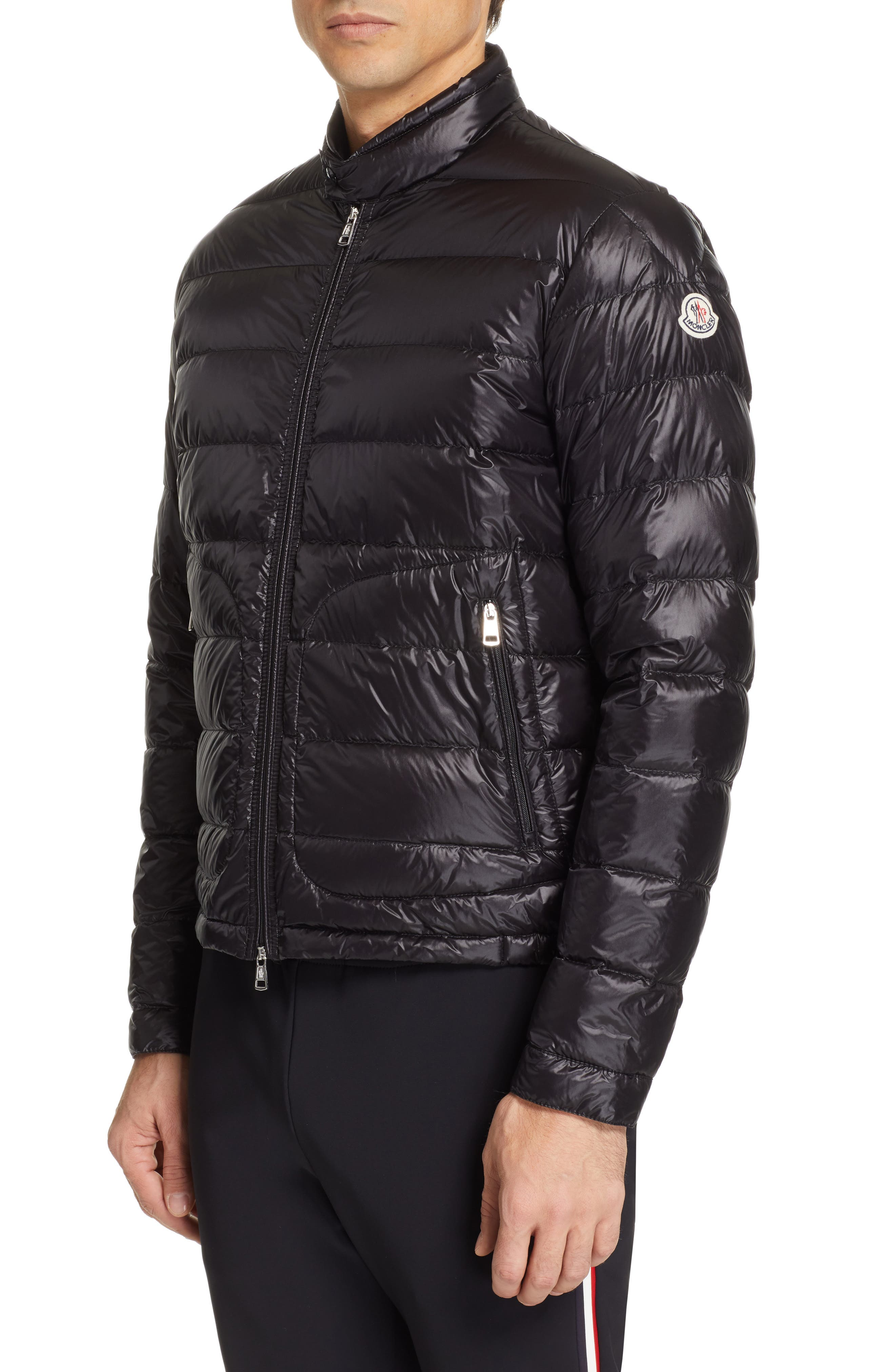 MONCLER Acorus Down Jacket, Main, color, BLACK