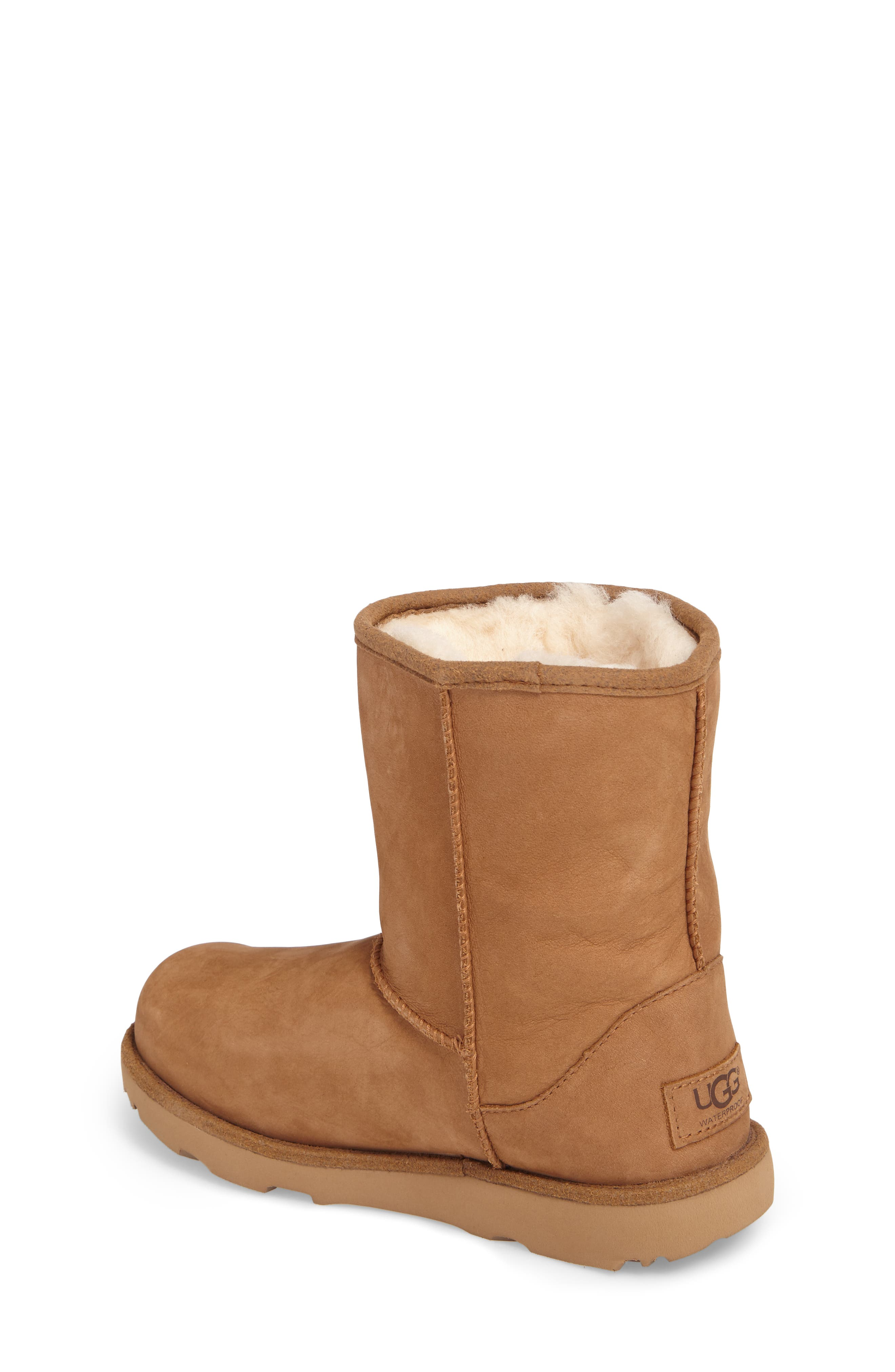 UGG<SUP>®</SUP>, Classic Short II Waterproof Boot, Alternate thumbnail 2, color, CHESTNUT