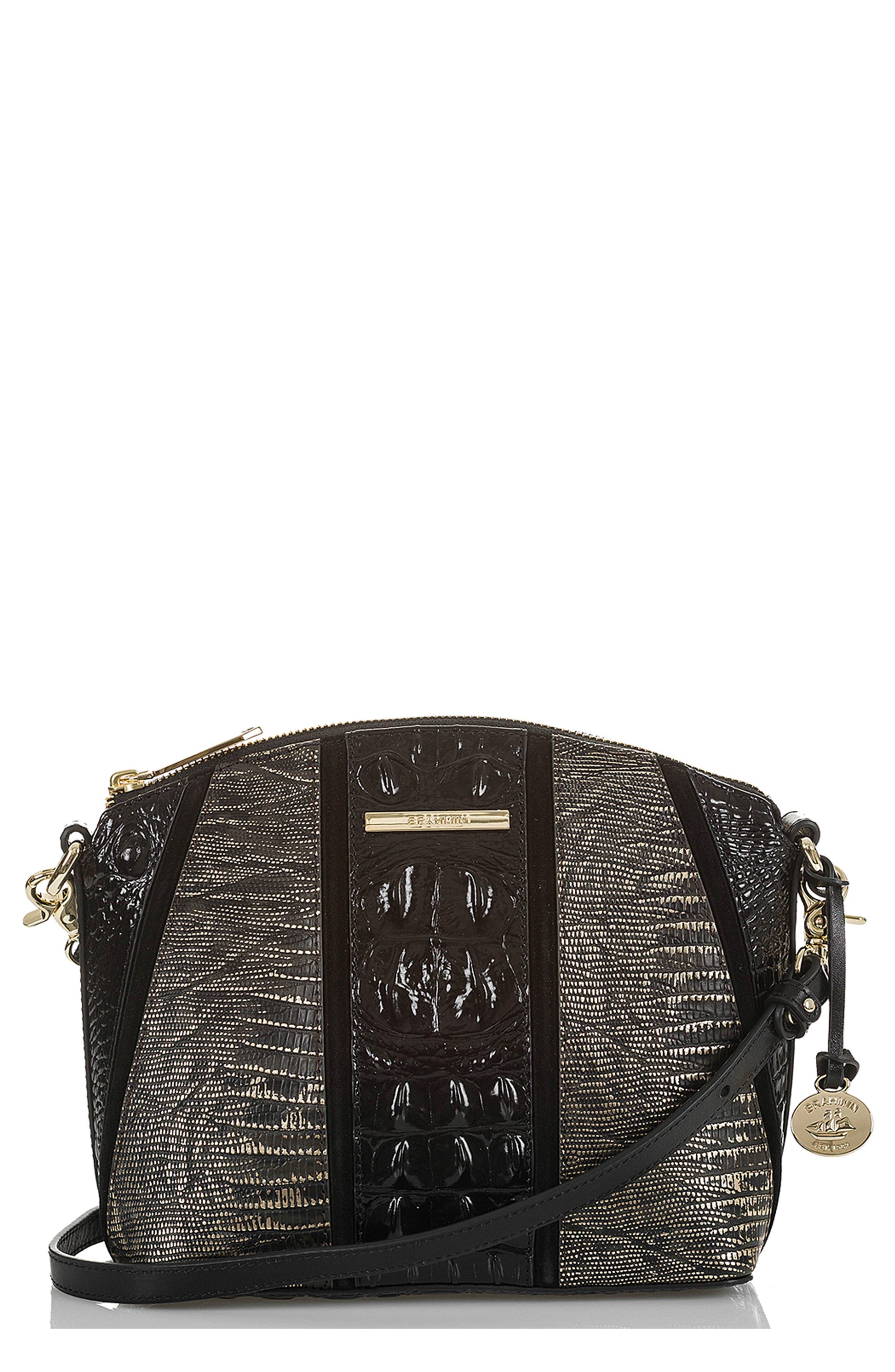 BRAHMIN Mini Duxbury Embossed Leather Crossbody Bag, Main, color, 028