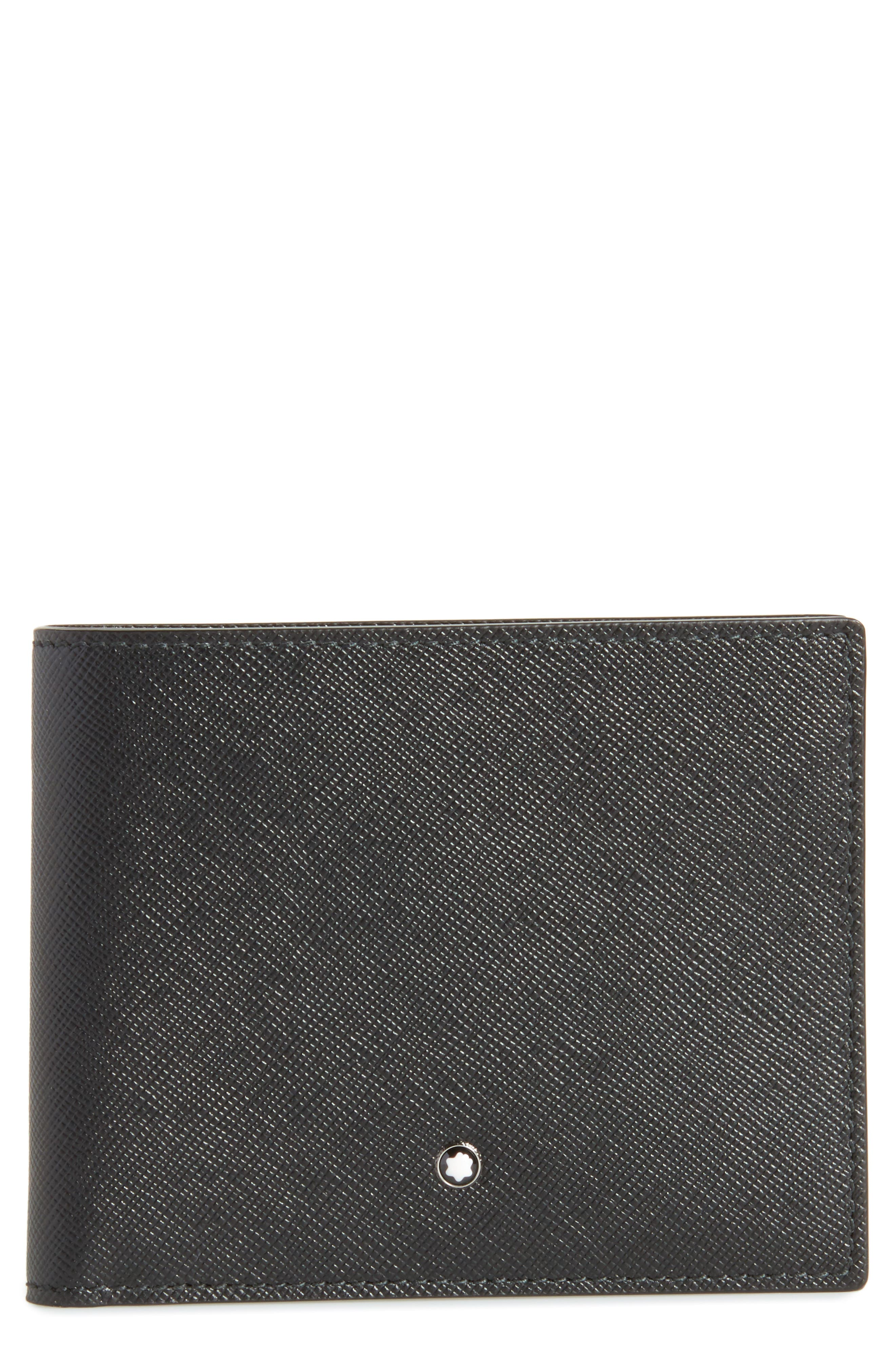 MONTBLANC, Sartorial Leather Bifold Wallet, Main thumbnail 1, color, BLACK