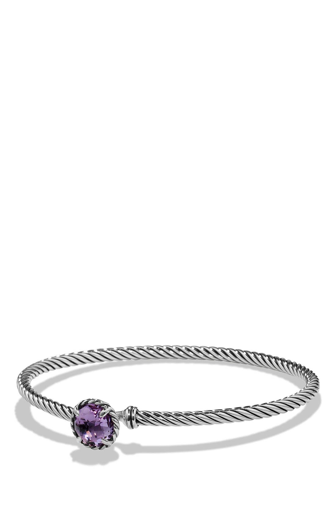 DAVID YURMAN, 'Color Classics' Bangle Bracelet, Main thumbnail 1, color, AMETHYST