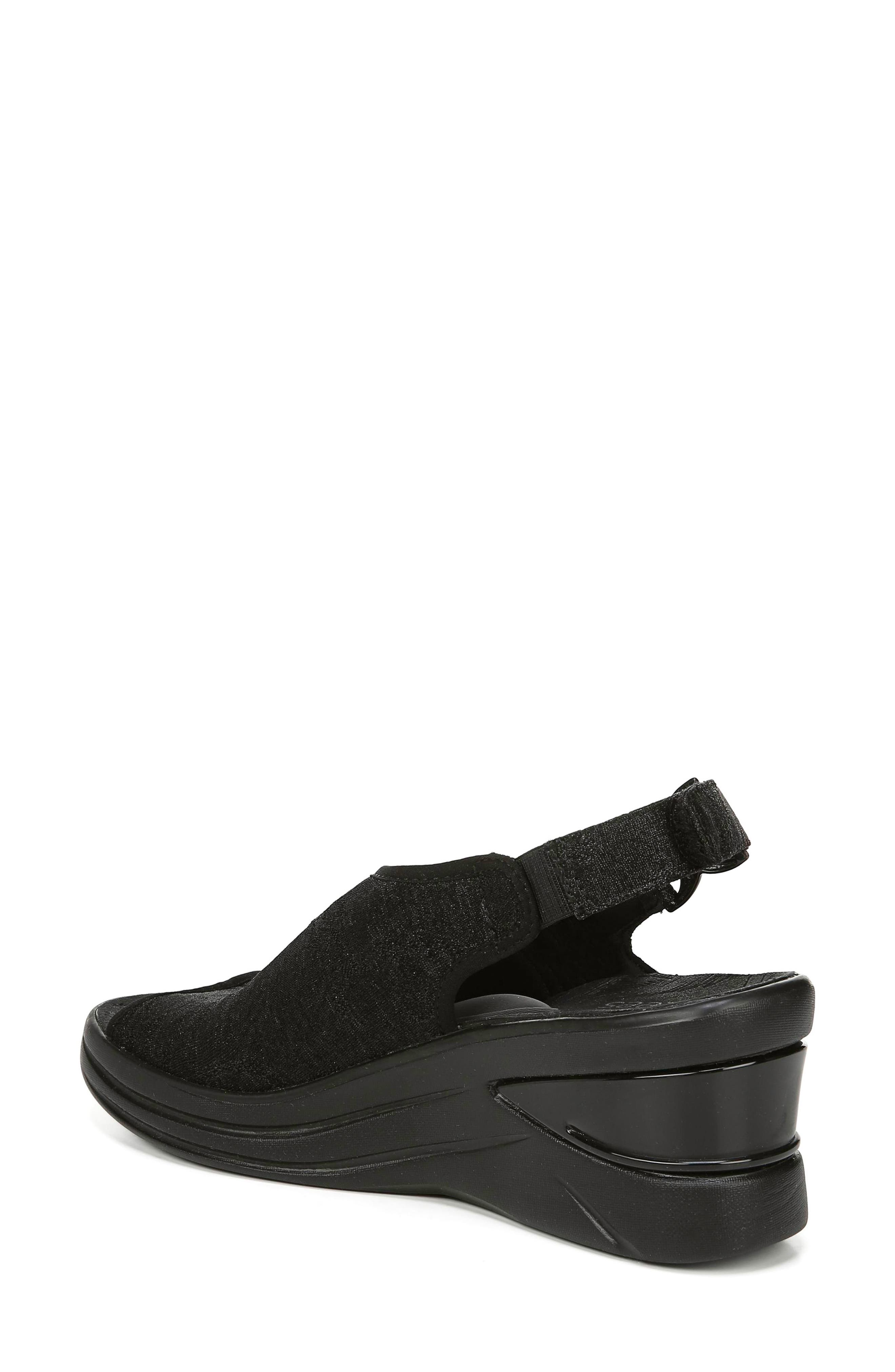 BZEES, Vivia Slingback Wedge Sandal, Alternate thumbnail 2, color, BLACK FABRIC