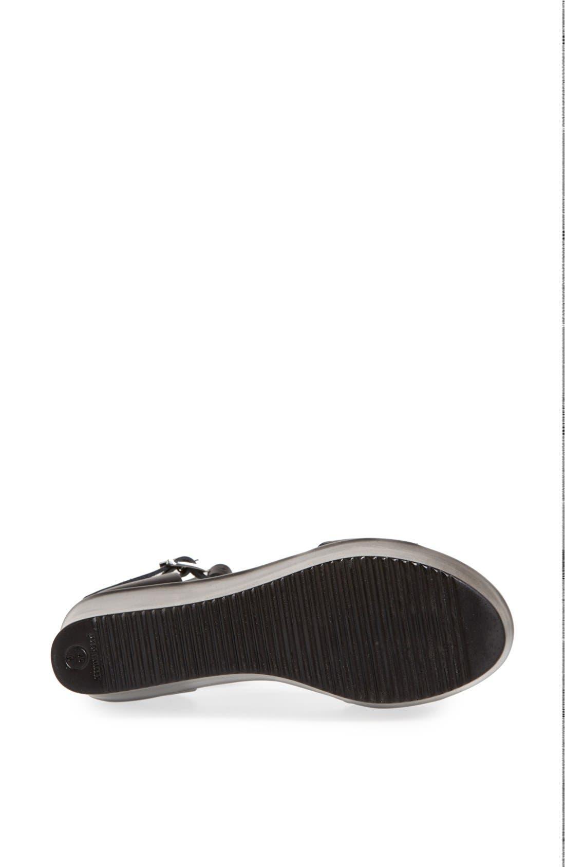 TOPSHOP, 'Wallis' Ankle Strap Platform Sandal, Alternate thumbnail 3, color, 001