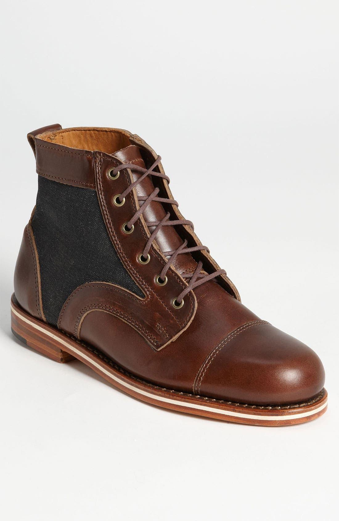 HELM 'Reid' Cap Toe Boot, Main, color, 200
