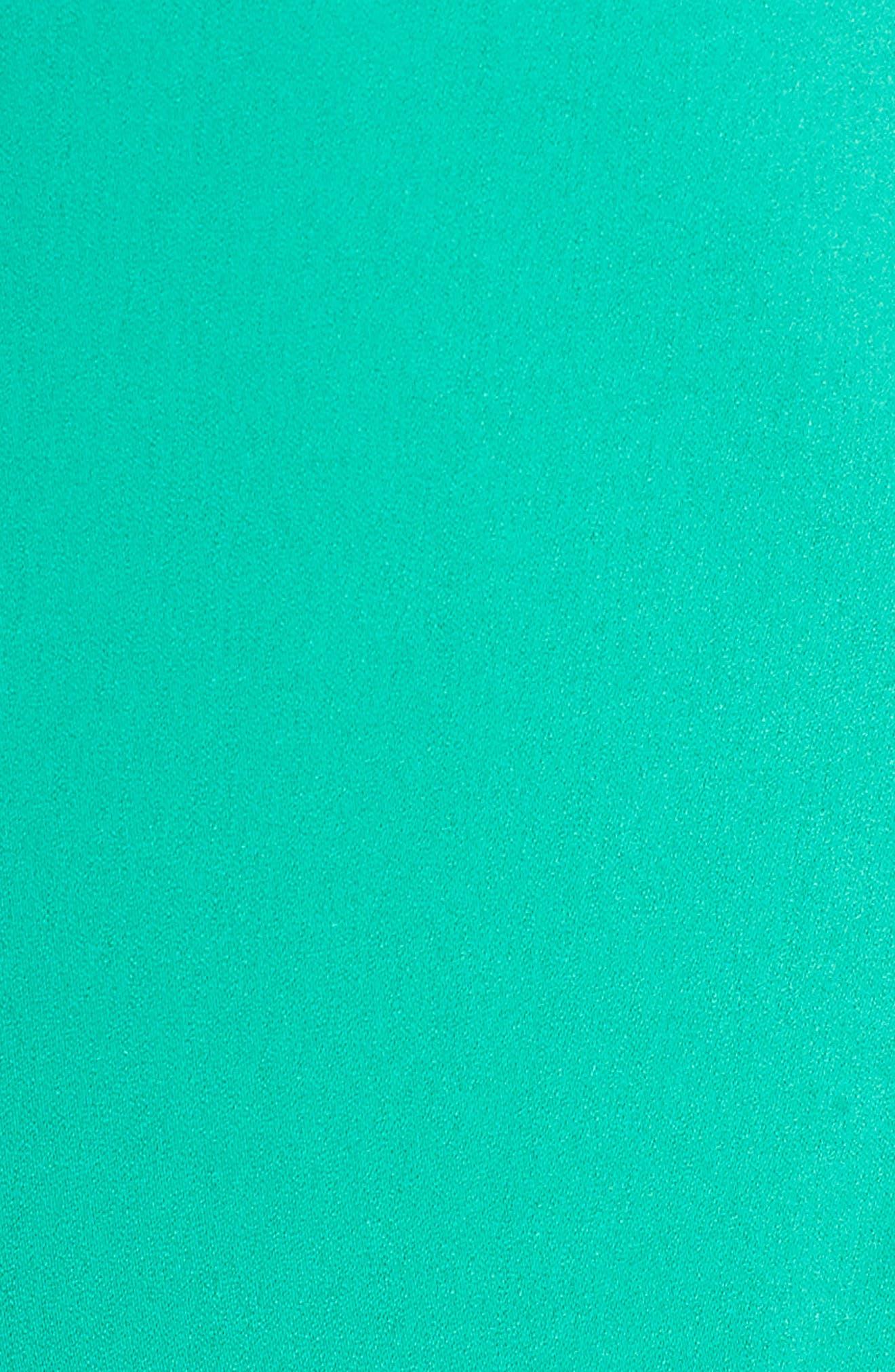 SEJOUR, Gathered Sleeve Blazer, Alternate thumbnail 7, color, GREEN PARAKEET