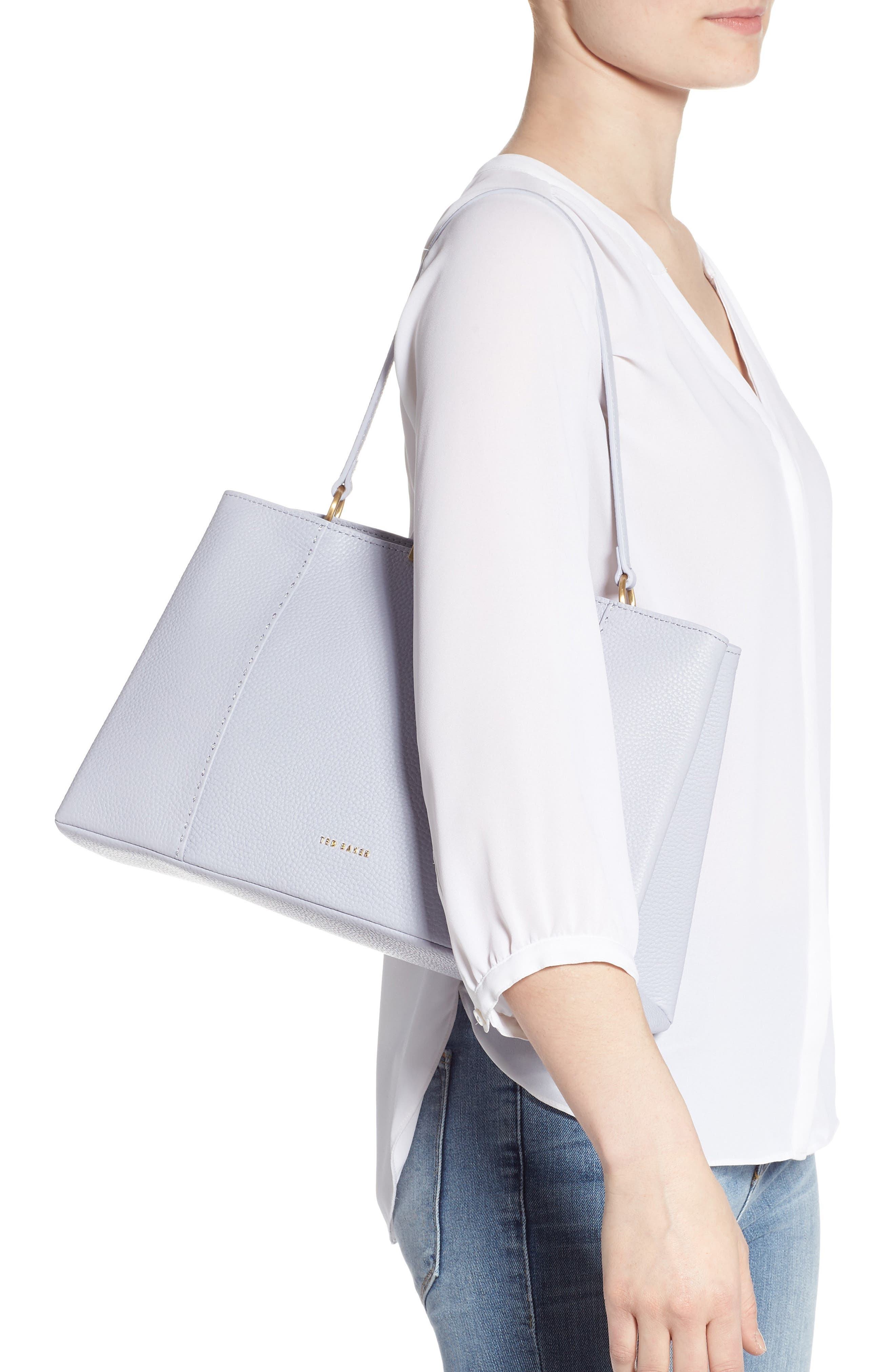 TED BAKER LONDON, Camieli Bow Tote, Alternate thumbnail 2, color, PL-BLUE