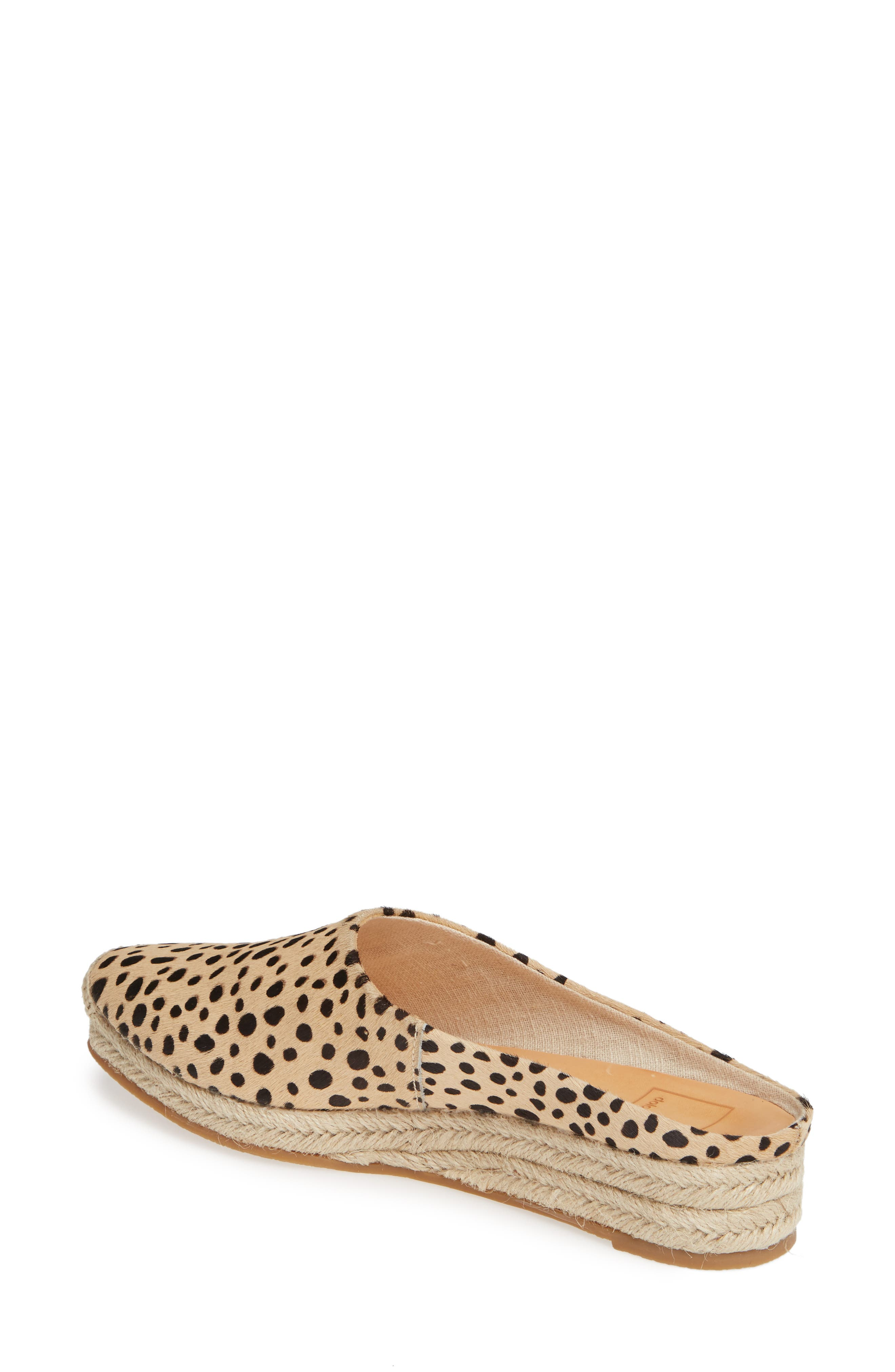 DOLCE VITA, Brandi Genuine Calf Hair Espadrille Mule, Alternate thumbnail 2, color, LEOPARD PRINT CALF HAIR