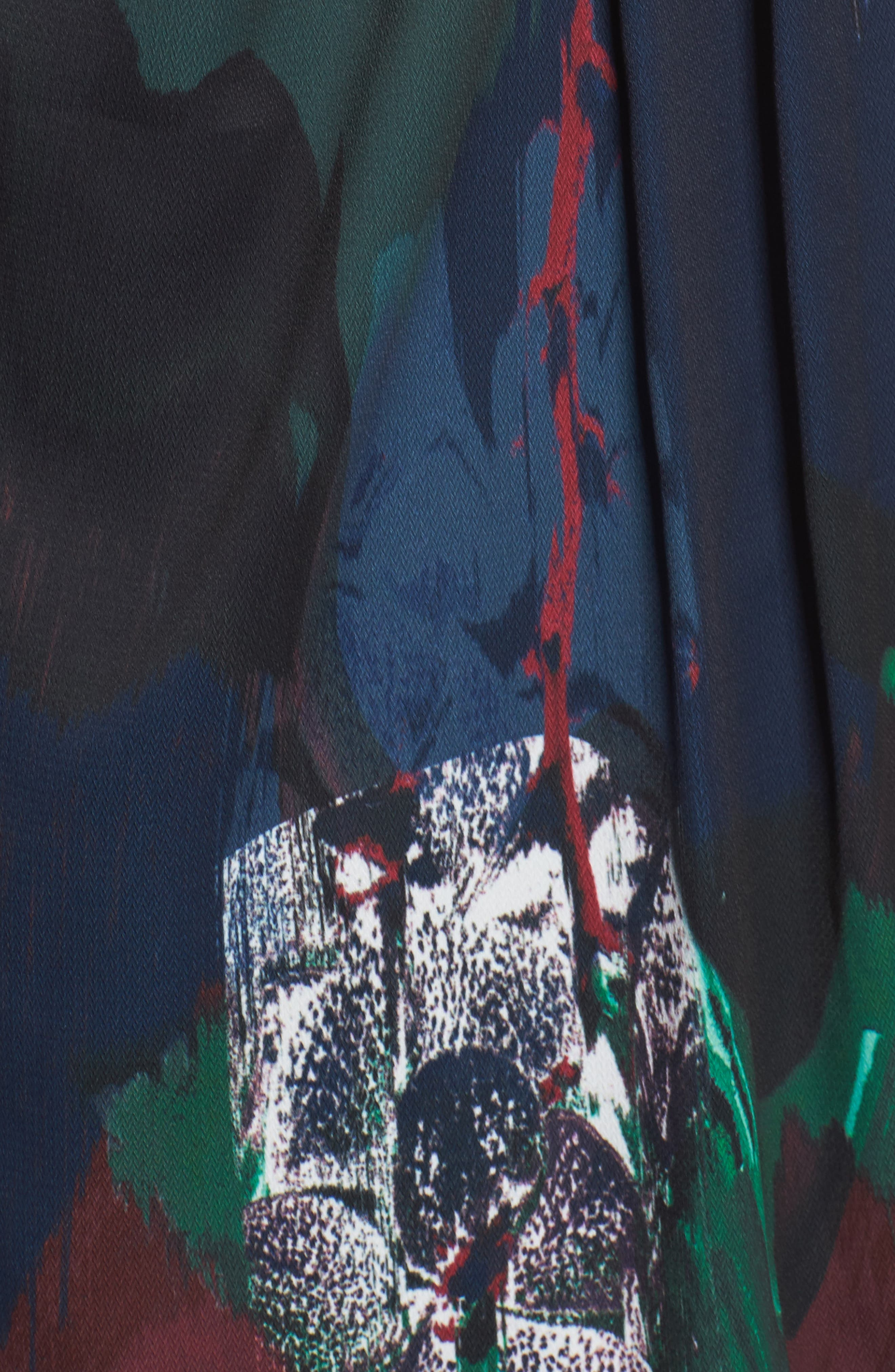 CHELSEA28, Print Faux Wrap Dress, Alternate thumbnail 6, color, NAVY MIXED FLORAL