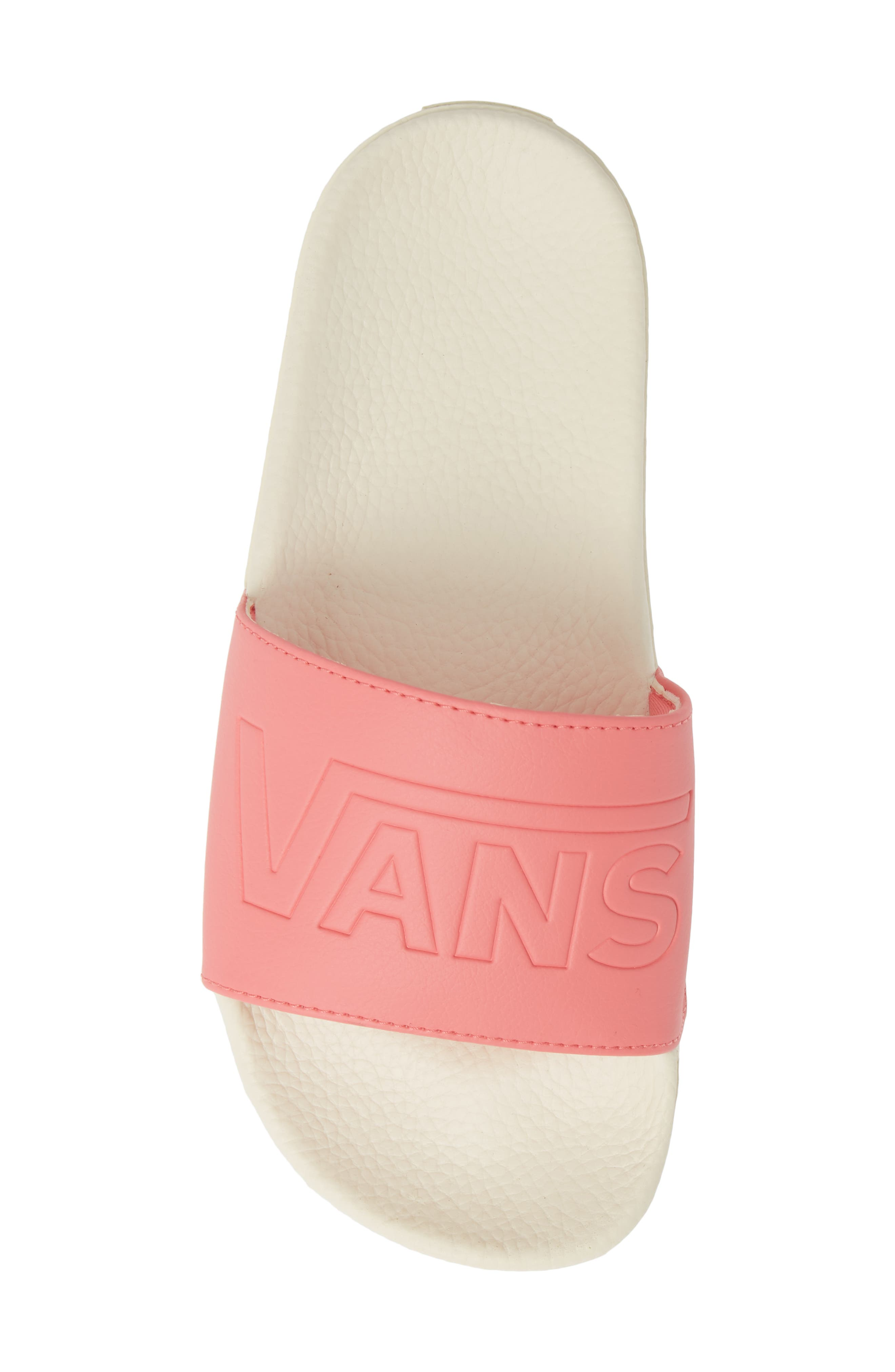 VANS, Slide-On Sandal, Alternate thumbnail 5, color, STRAWBERRY PINK