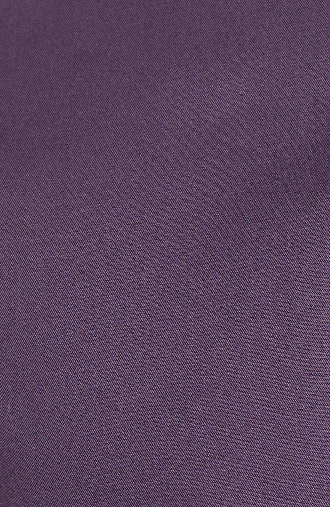 NORDSTROM MEN'S SHOP, Smartcare<sup>™</sup> Traditional Fit Twill Boat Shirt, Alternate thumbnail 5, color, PURPLE NIGHT