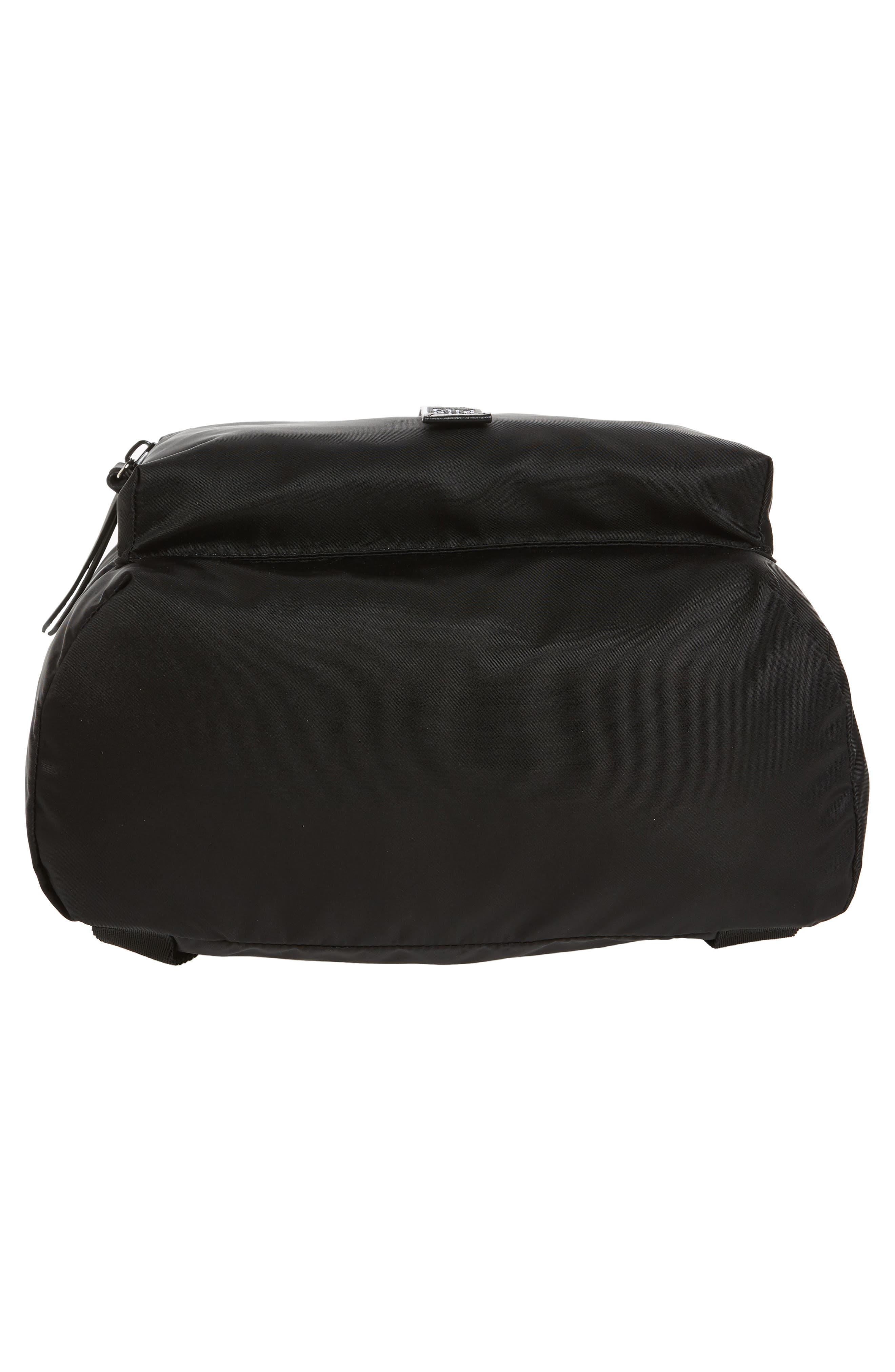 GIVENCHY, Light 3 Backpack, Alternate thumbnail 6, color, BLACK/ WHITE