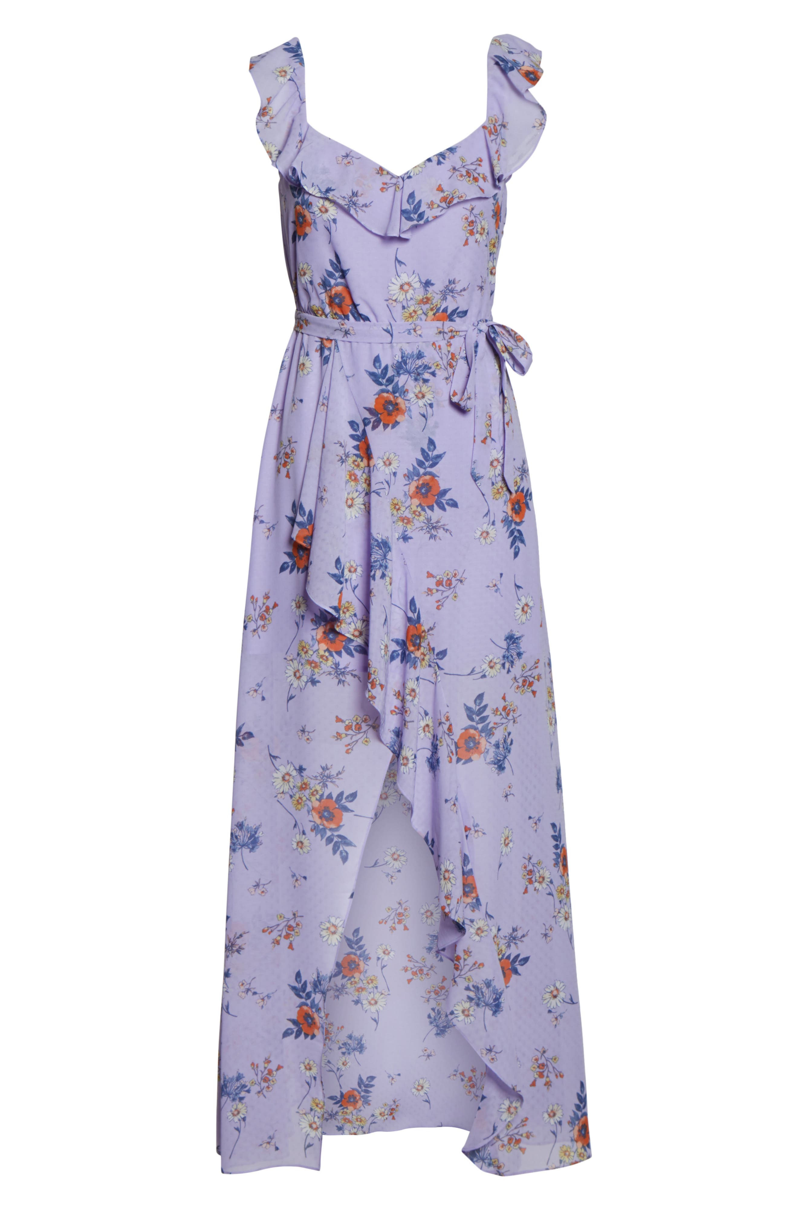 ALI & JAY, Sure Thing Maxi Dress, Alternate thumbnail 7, color, LAVENDER FIELD FLORAL