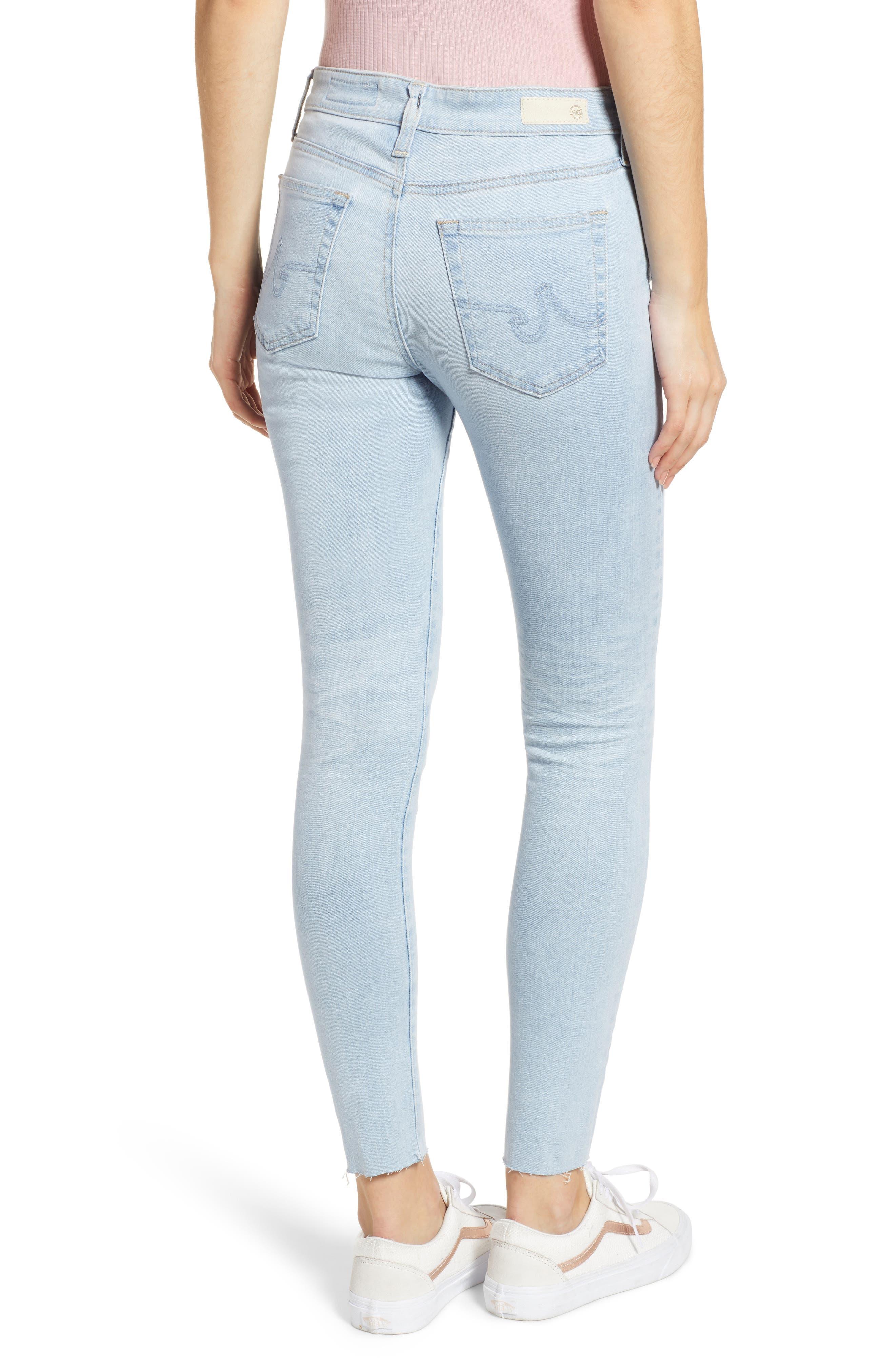 AG, The Farrah High Waist Ankle Skinny Jeans, Alternate thumbnail 2, color, 27 YEARS SHINING