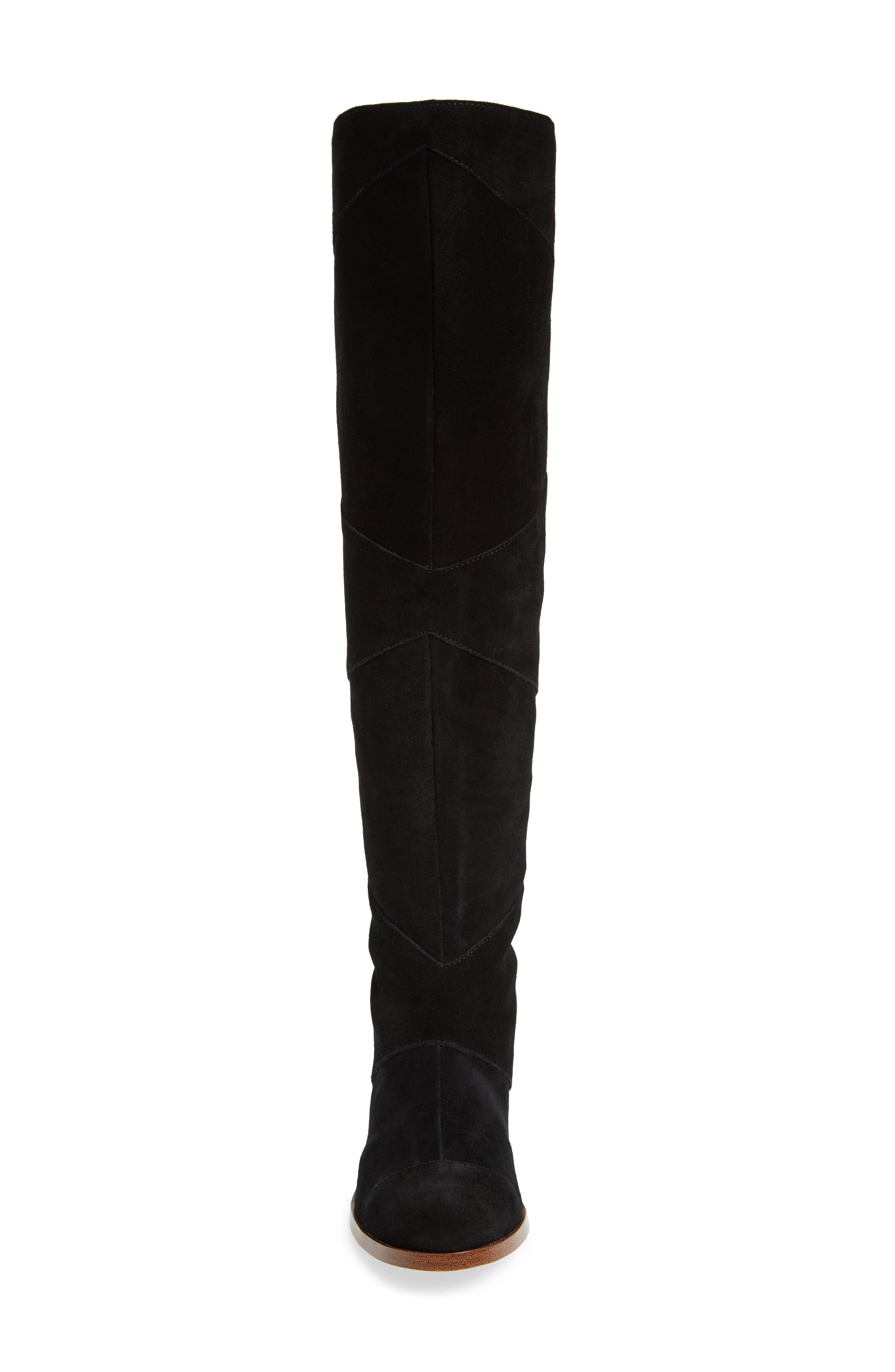 SOLE SOCIETY, Tiff Over the Knee Boot, Alternate thumbnail 4, color, BLACK