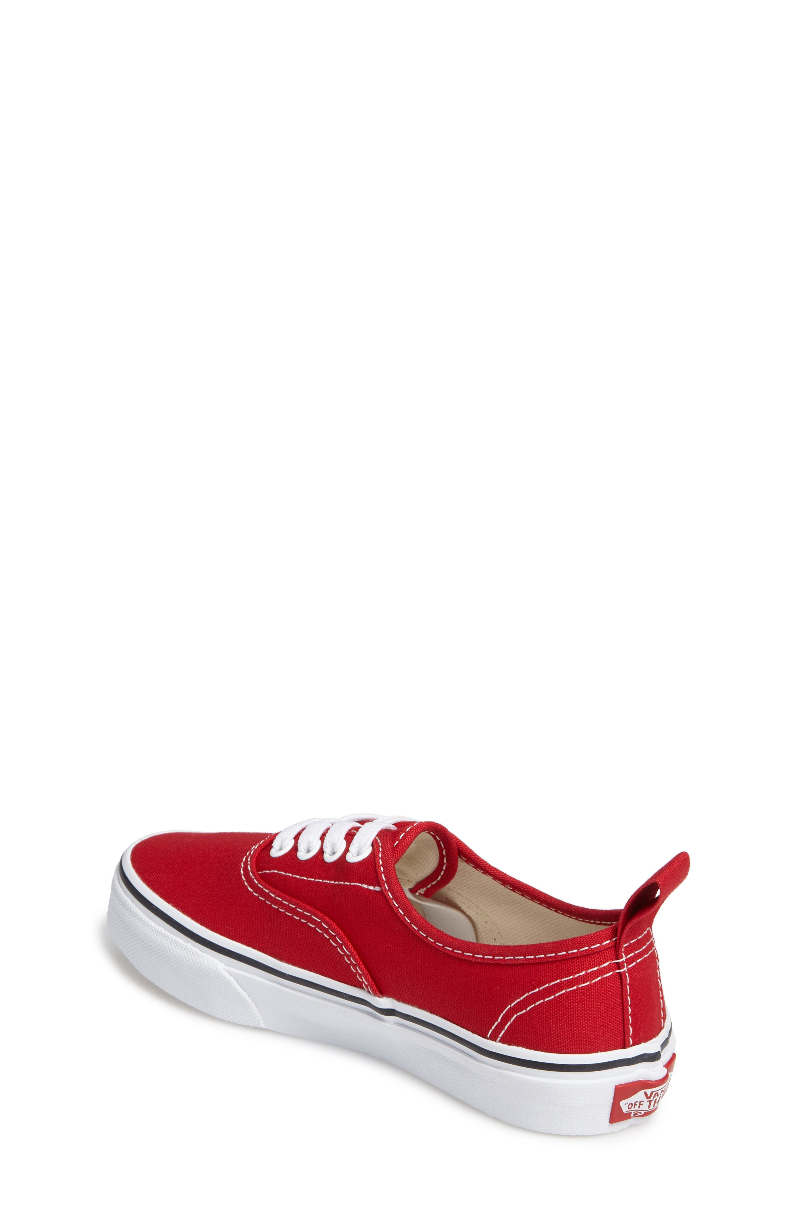 VANS, Authentic Sneaker, Alternate thumbnail 2, color, RACING RED/ TRUE WHITE