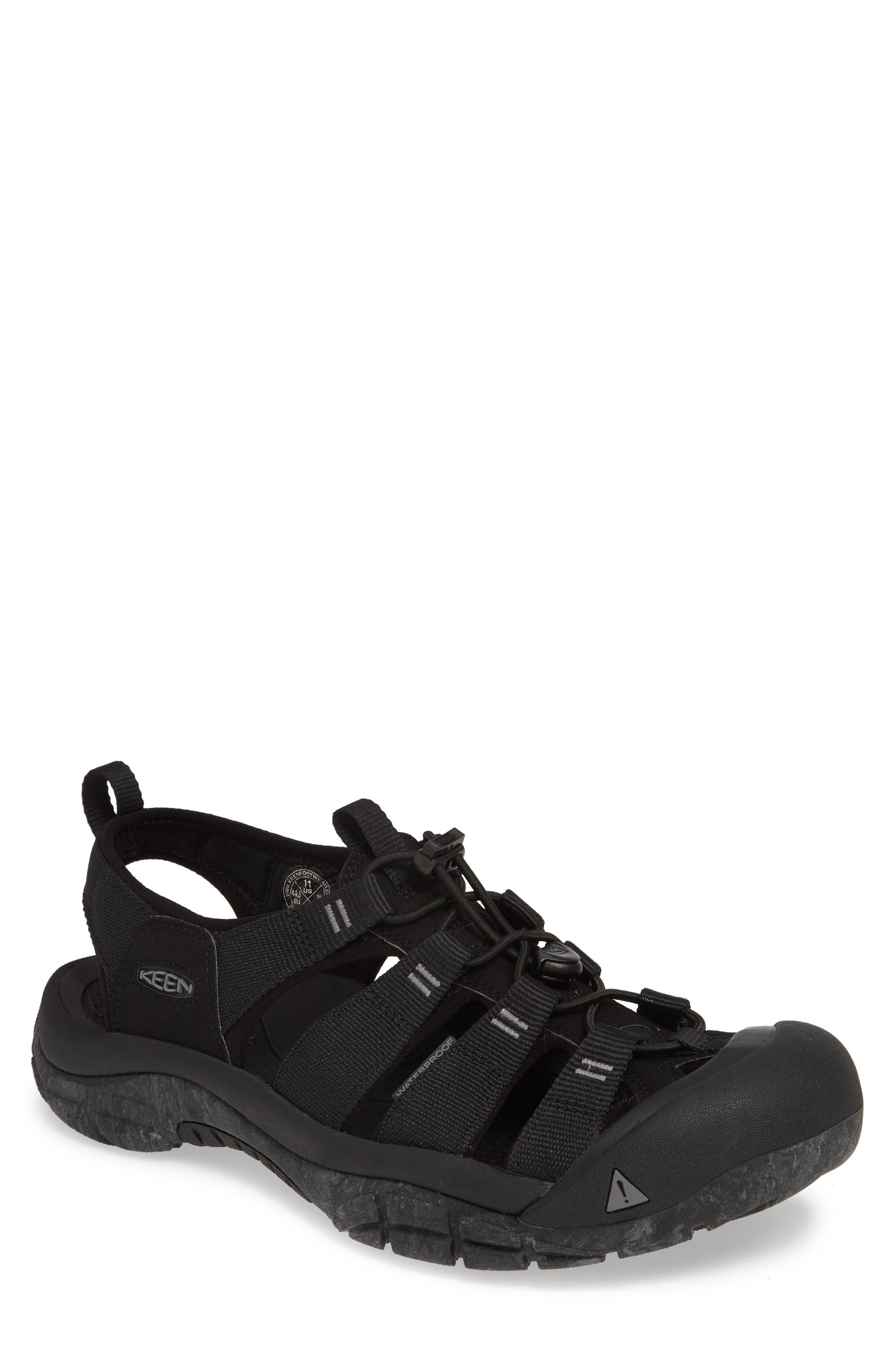 KEEN, 'Newport H2' Sandal, Main thumbnail 1, color, BLACK/ SWIRL OUTSOLE