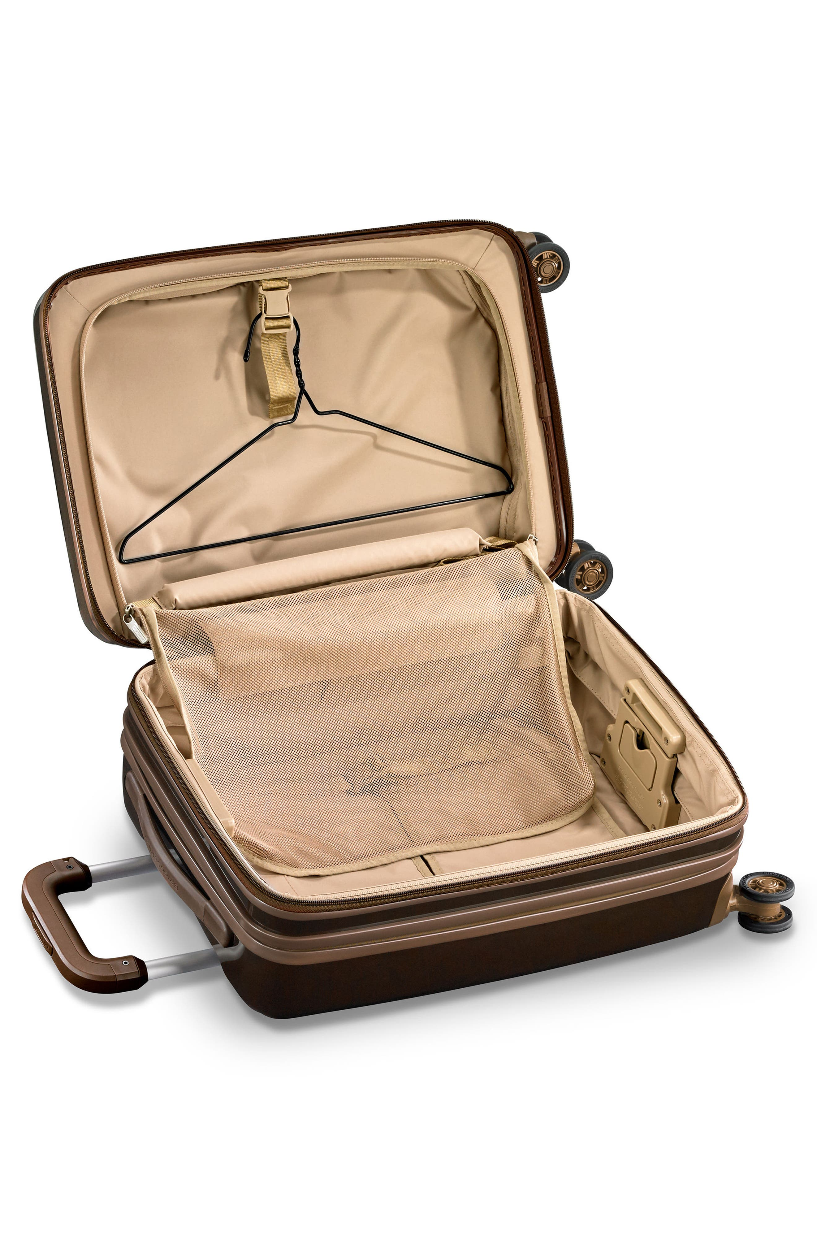BRIGGS & RILEY, Sympatico 21-Inch Expandable Wheeled Carry-On, Alternate thumbnail 8, color, BRONZE