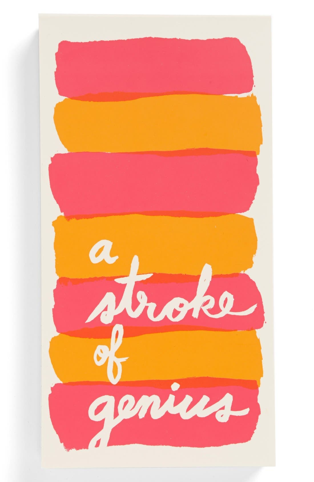 KATE SPADE NEW YORK, 'a stroke of genius' large notepad, Main thumbnail 1, color, 650