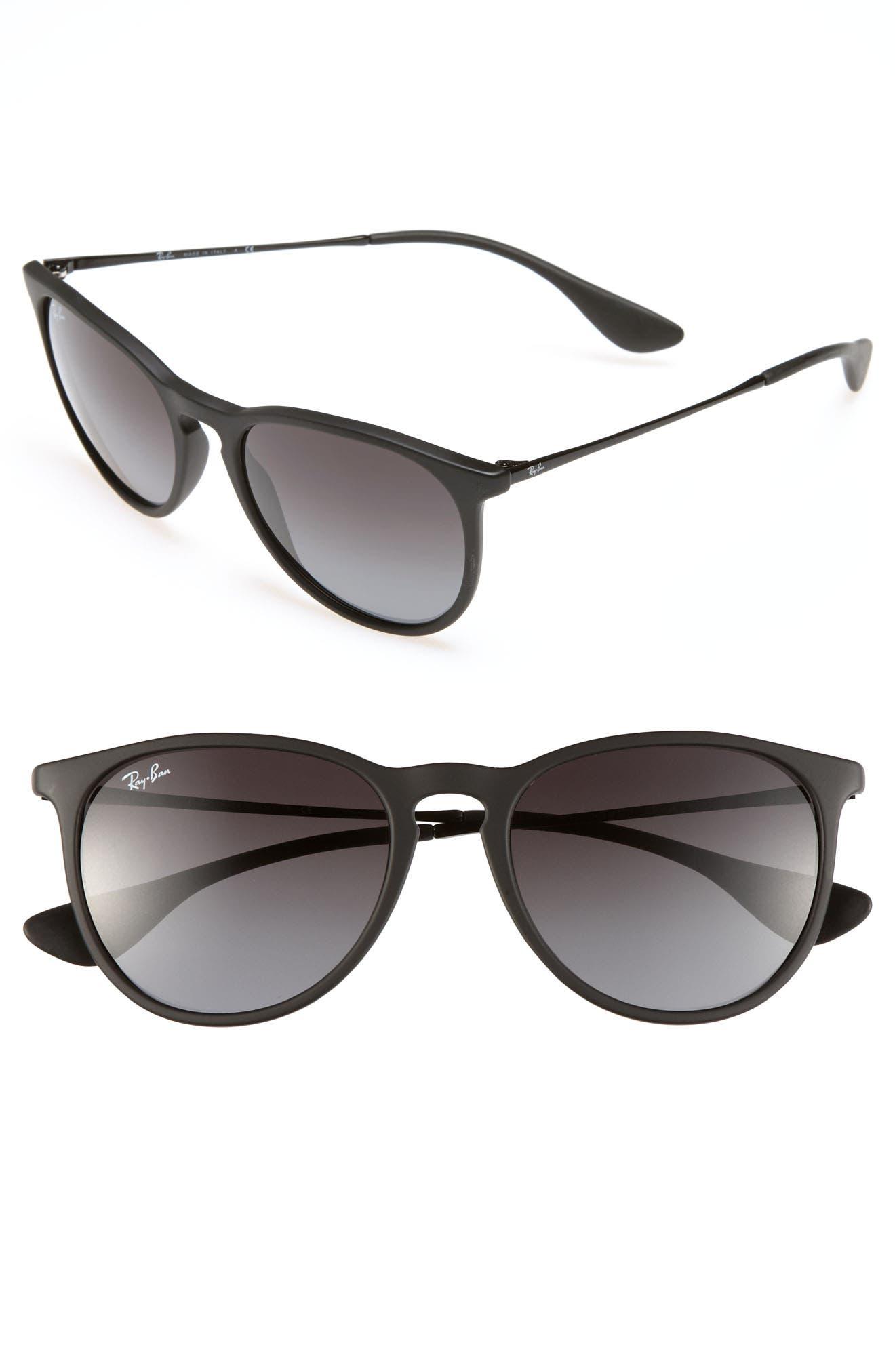 RAY-BAN, Erika Classic 54mm Sunglasses, Main thumbnail 1, color, BLACK/ GREY GRADIENT