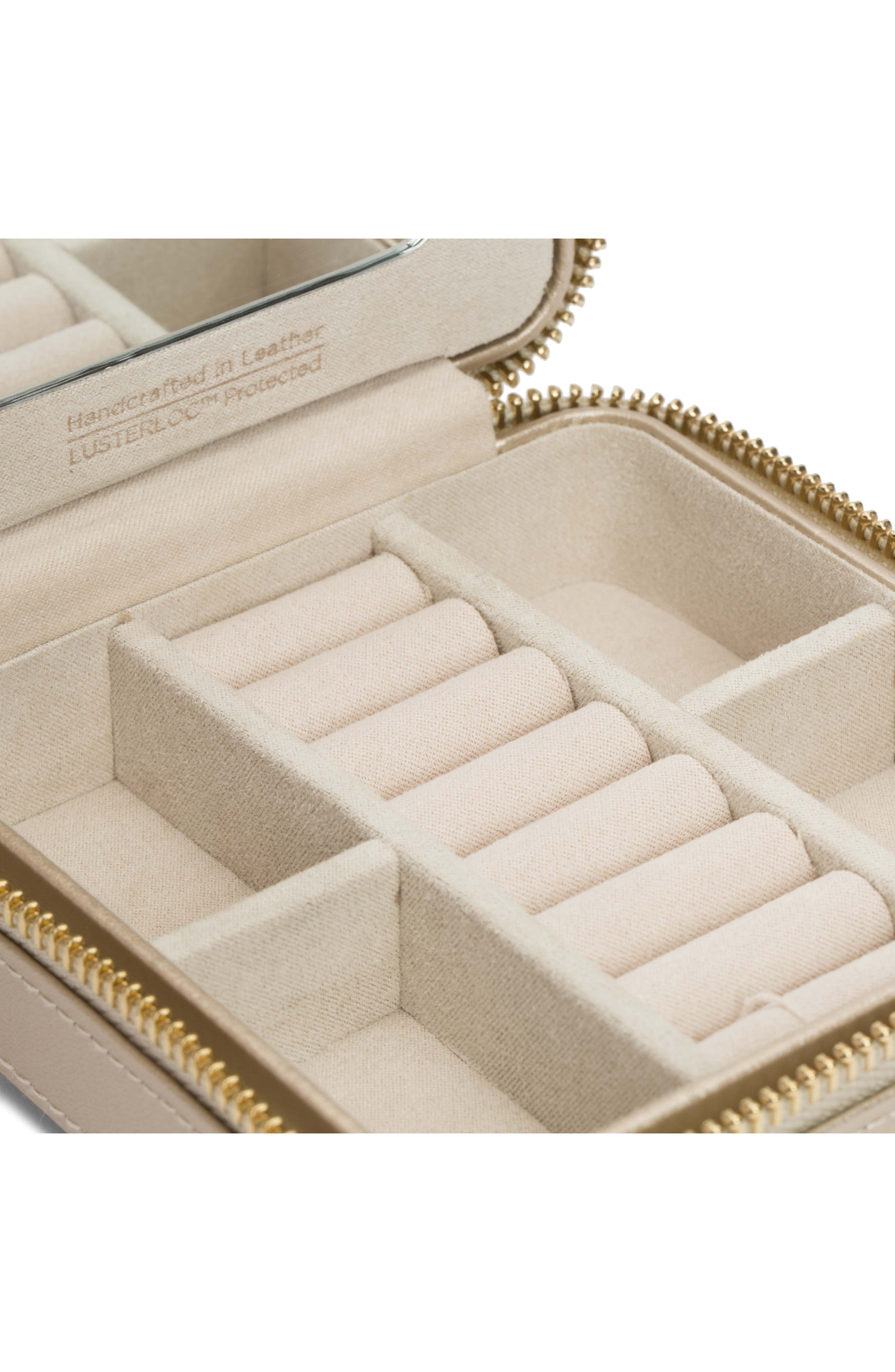 WOLF, 'Caroline' Travel Jewelry Case, Alternate thumbnail 3, color, CHAMPAGNE