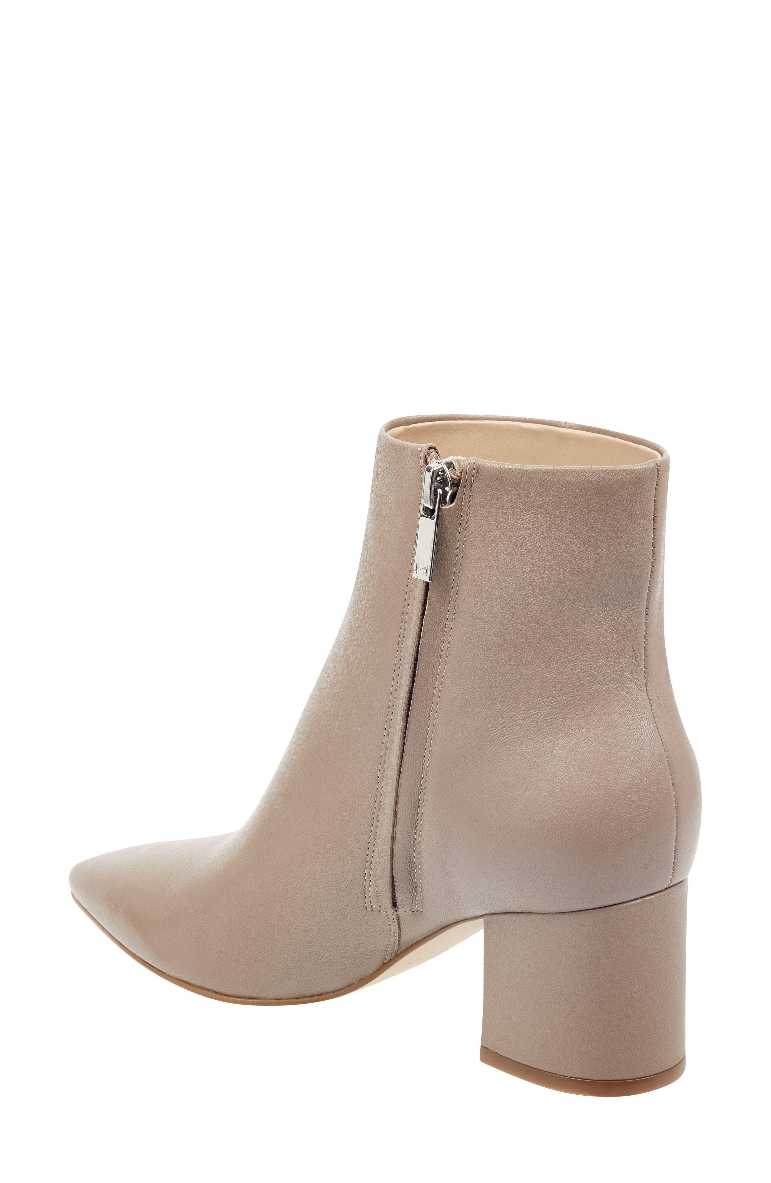 MARC FISHER LTD, Jarli Bootie, Alternate thumbnail 2, color, TAUPE LEATHER
