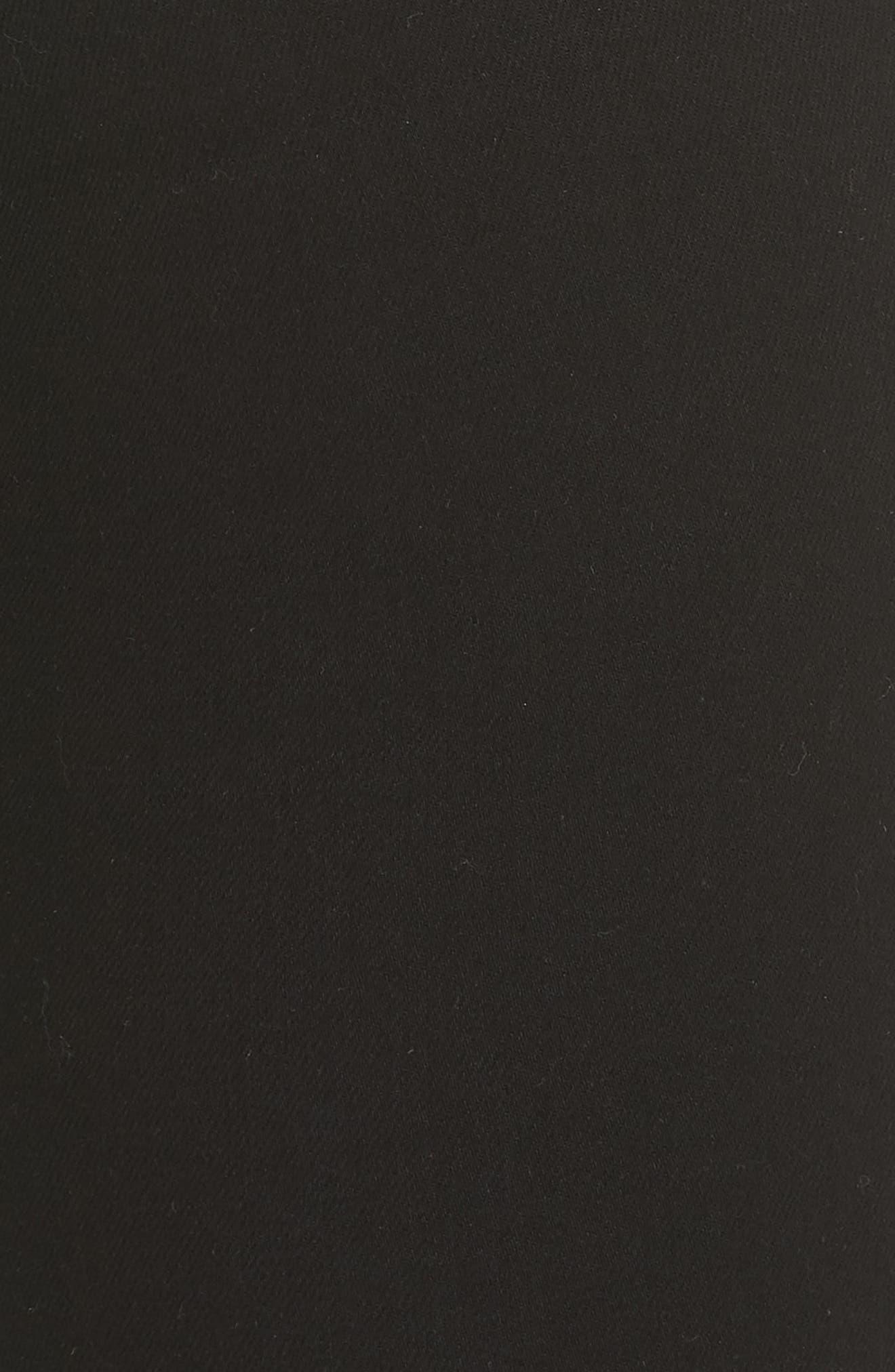 RAG & BONE, High Waist Ankle Skinny Jeans, Alternate thumbnail 6, color, BLACK
