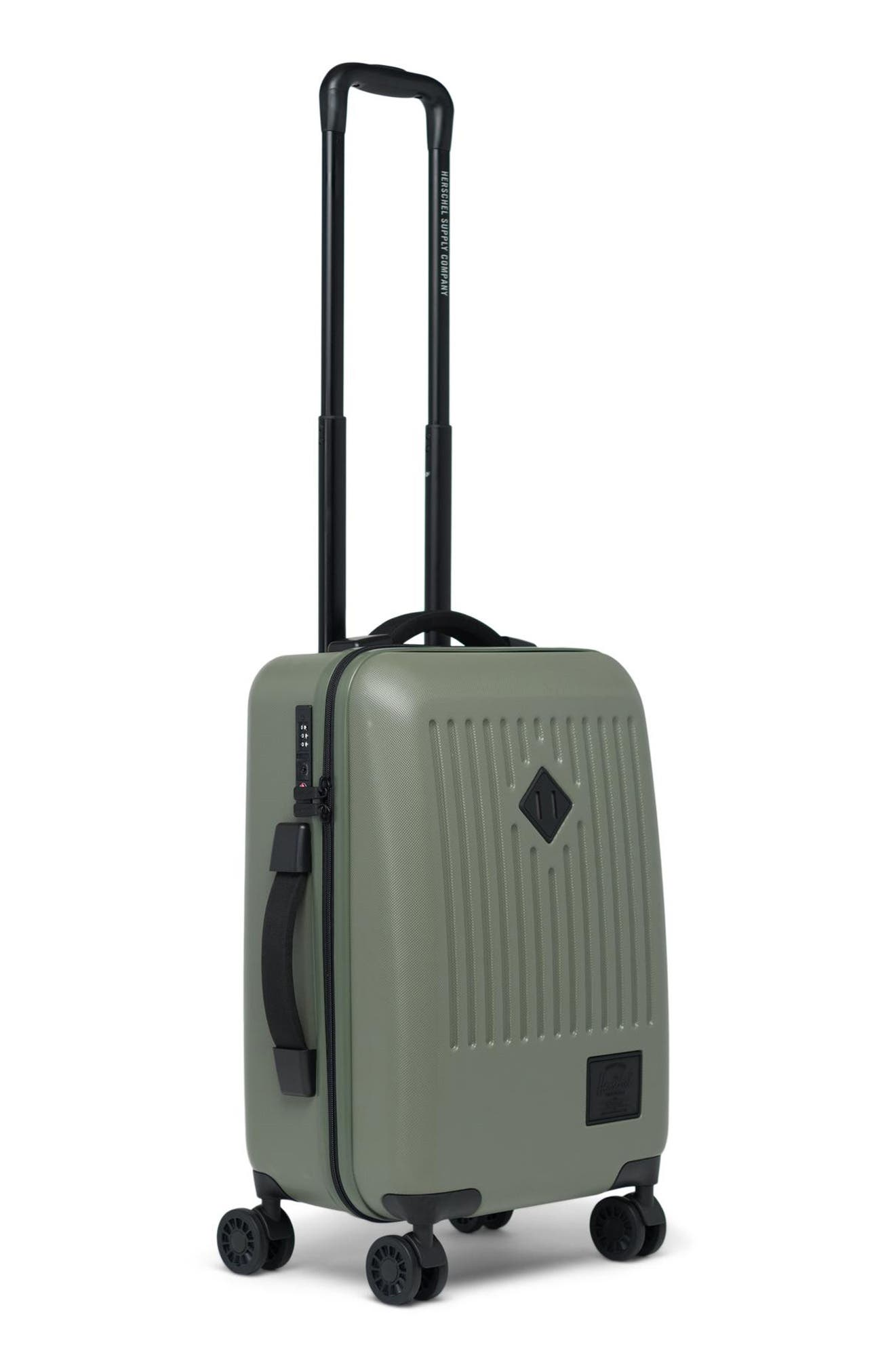 HERSCHEL SUPPLY CO., Small Trade 23-Inch Rolling Suitcase, Alternate thumbnail 3, color, OLIVE NIGHT