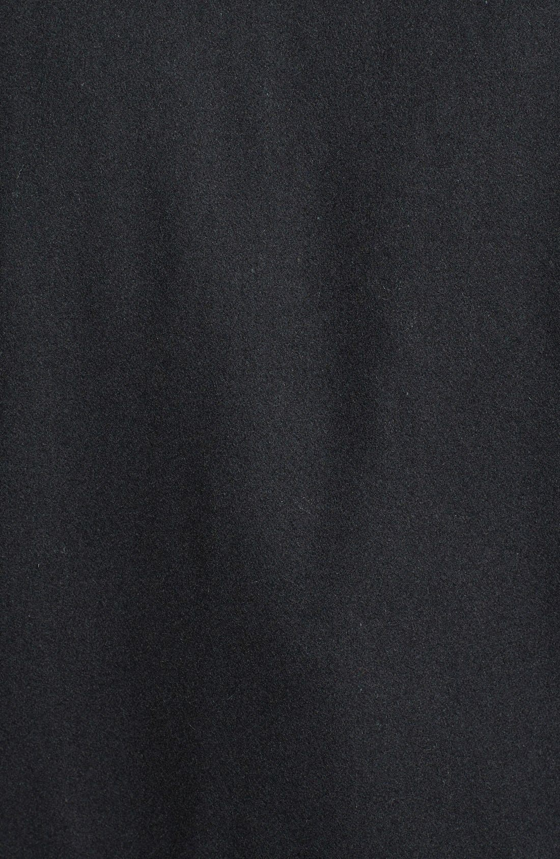 BLACK RIVET, Wool Blend Bomber Jacket, Alternate thumbnail 3, color, 001