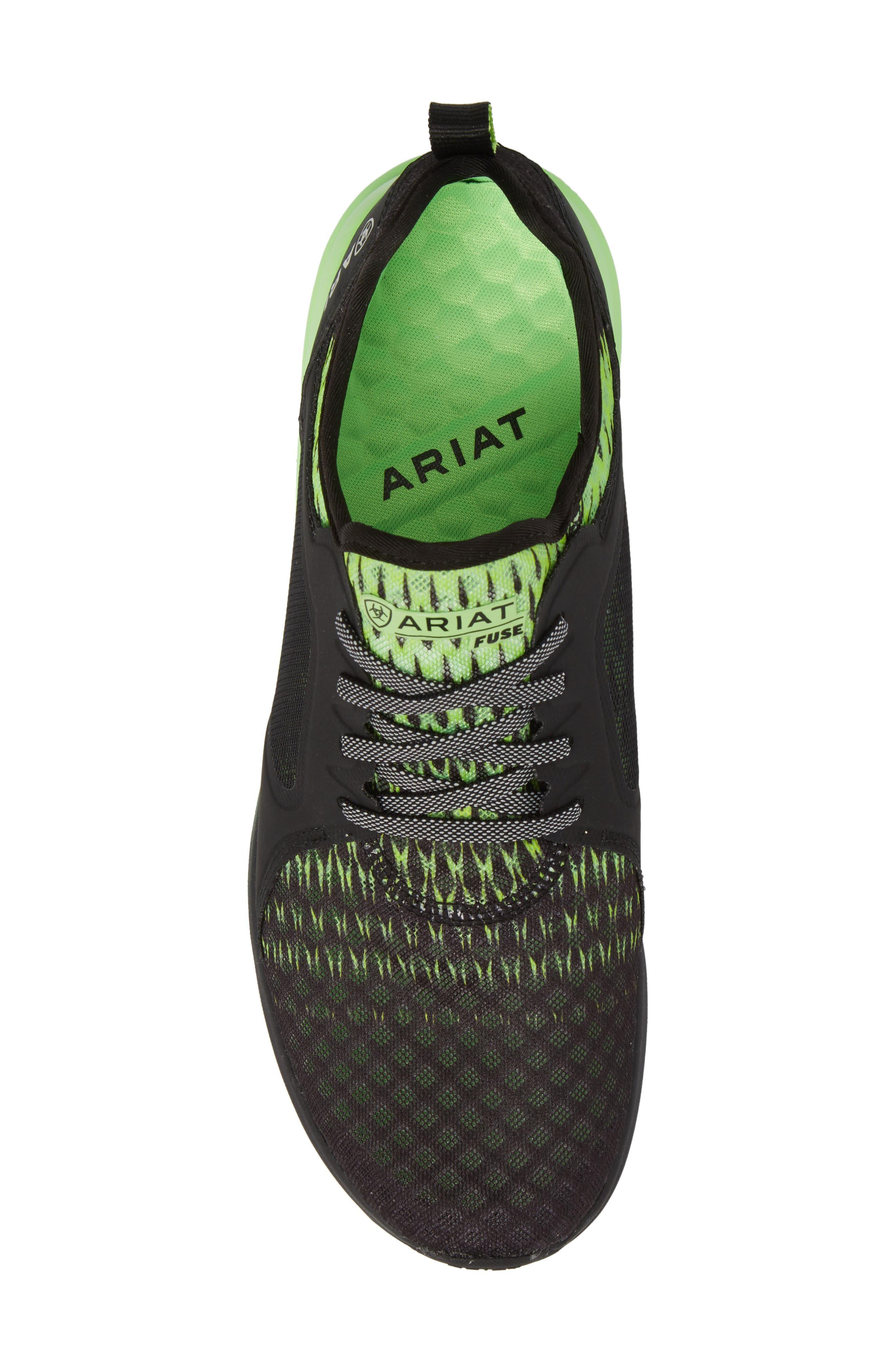 ARIAT, Fuse Ombré Sneaker, Alternate thumbnail 5, color, BLACK OMBRE