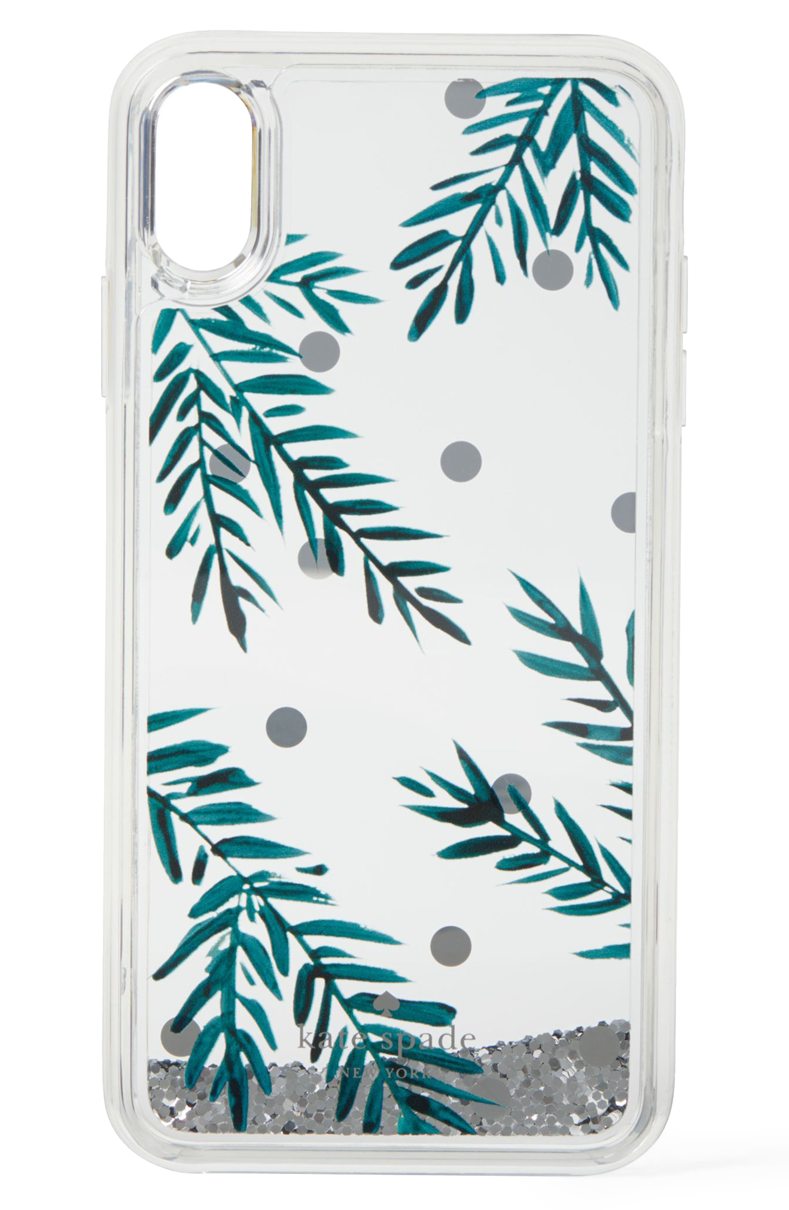 KATE SPADE NEW YORK, holly glitter iPhone X/Xs/Xs Max & XR case, Alternate thumbnail 4, color, 300