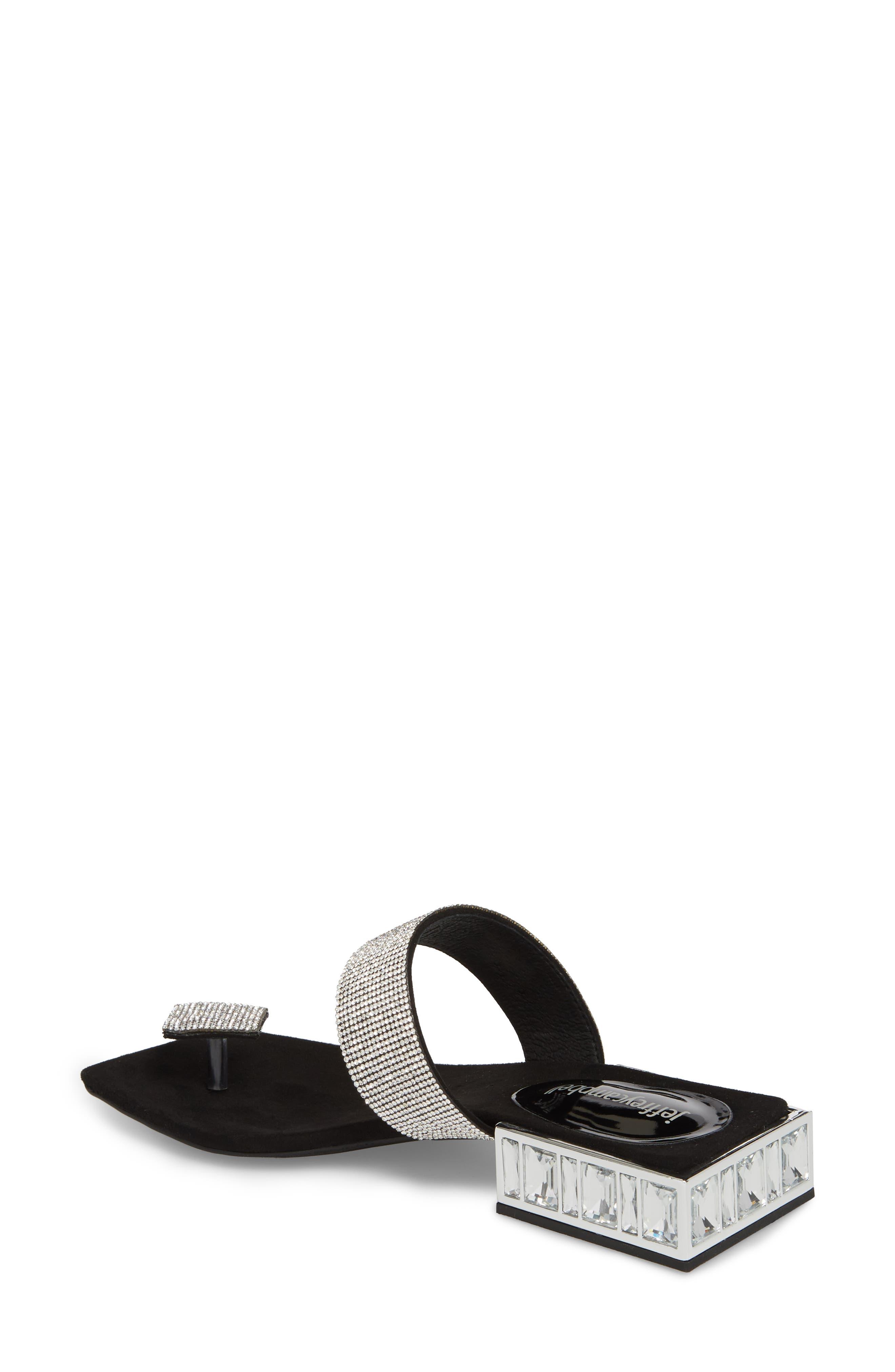 JEFFREY CAMPBELL, Alise Embellished Sandal, Alternate thumbnail 2, color, BLACK SUEDE/ SILVER