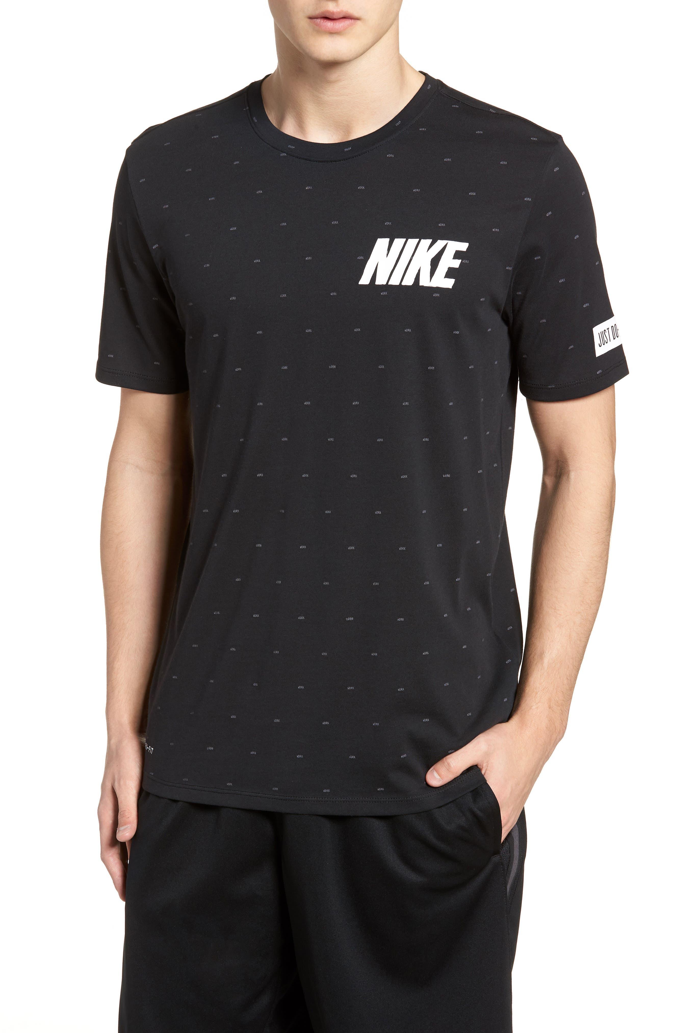 Nike Dry Print T-Shirt Black