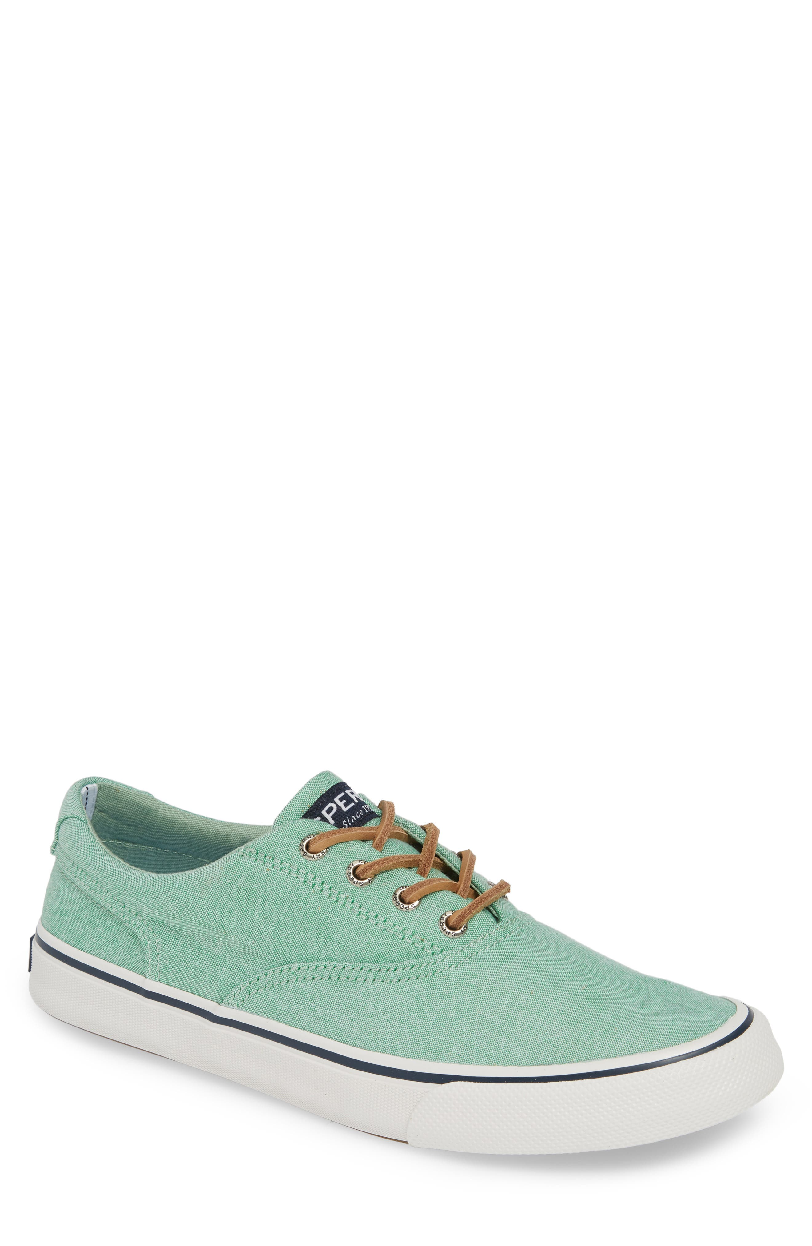 SPERRY, Striper II CVO Oxford Sneaker, Main thumbnail 1, color, GREEN