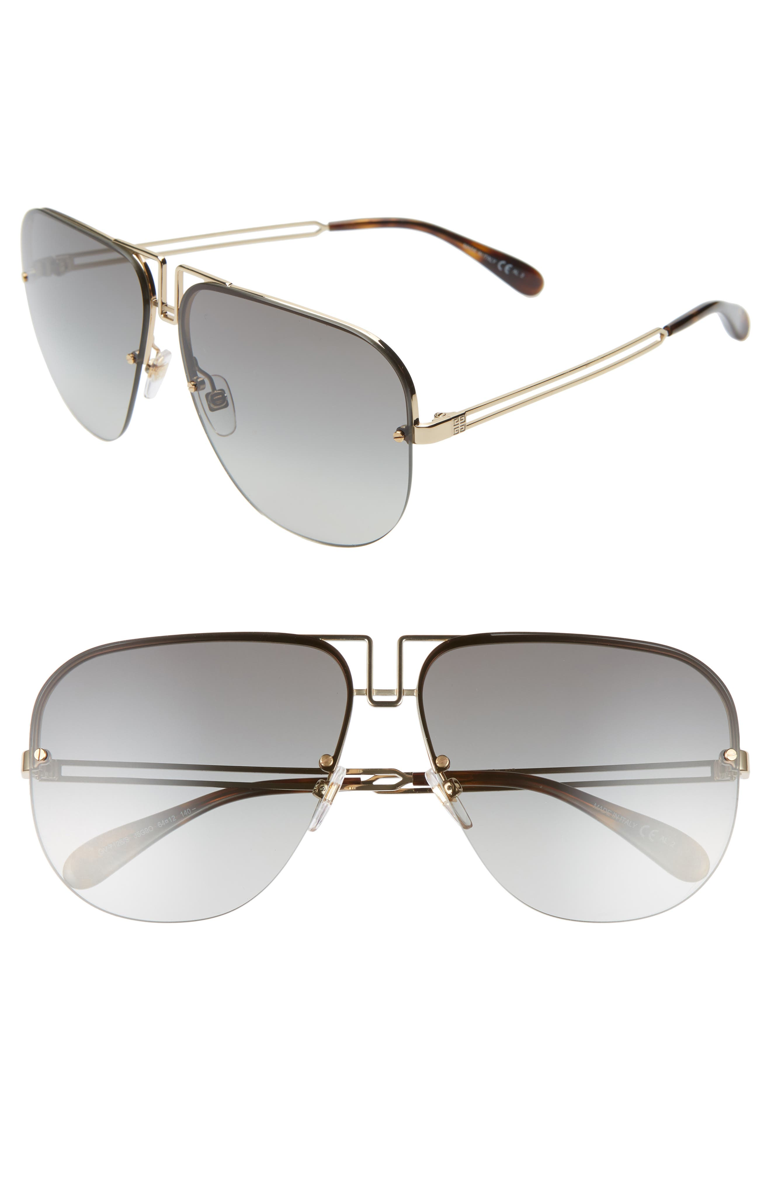 262b3f7157 Givenchy Oversize Aviator Sunglasses - Gold  Grey