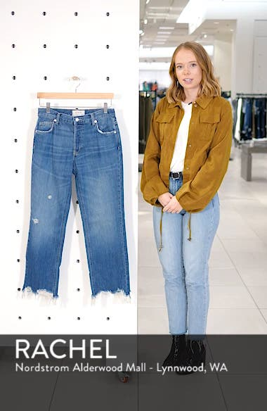 We the Free by Free People Maggie Ripped Crop Straight Leg Jeans, sales video thumbnail