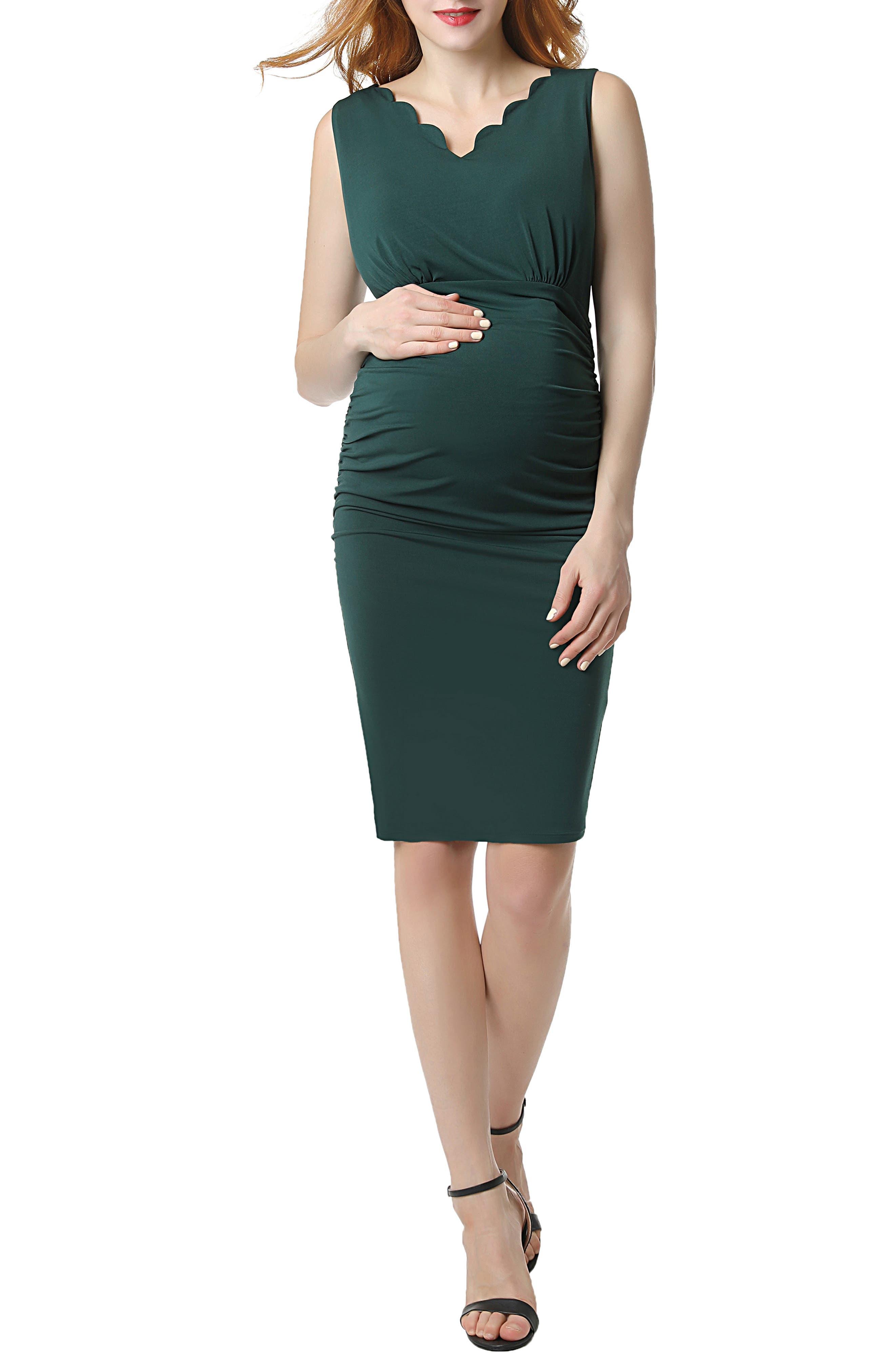 Kimi And Kai Talula Body-Con Maternity Dress, Green