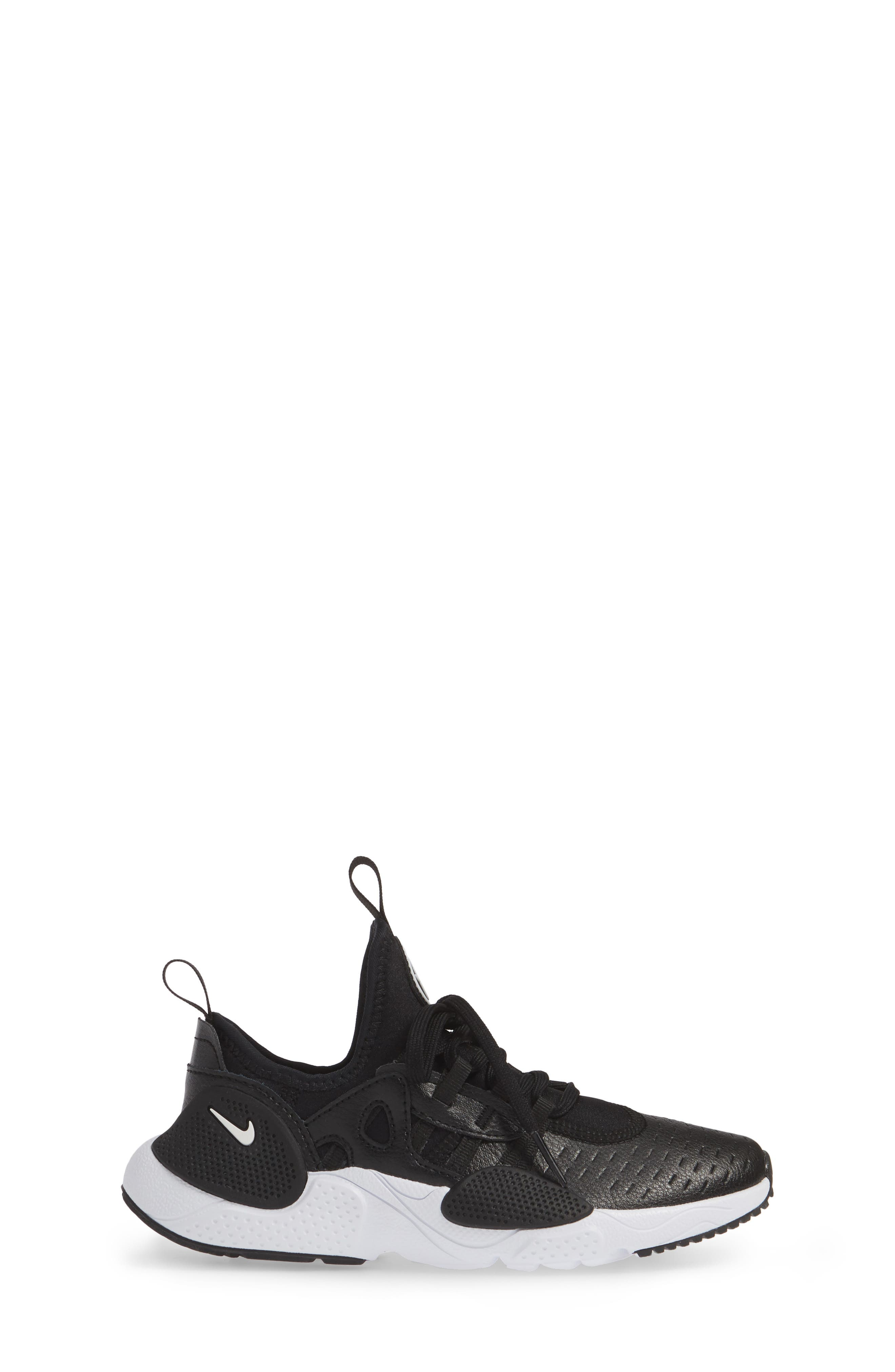 NIKE, Huarache E.D.G.E. Sneaker, Alternate thumbnail 3, color, BLACK/ WHITE