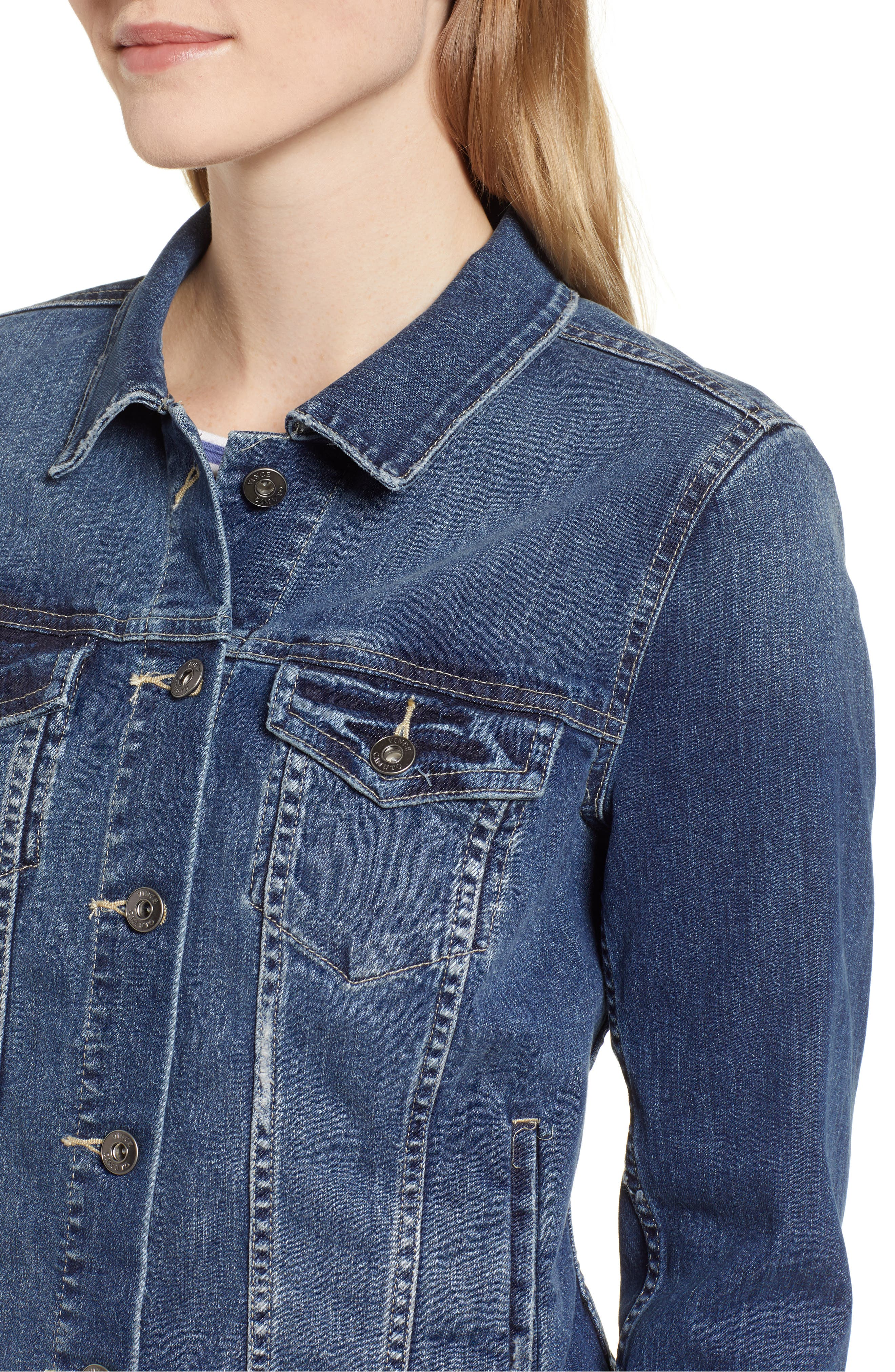 VINCE CAMUTO, Two by Vince Camuto Jean Jacket, Alternate thumbnail 6, color, AUTHENTIC