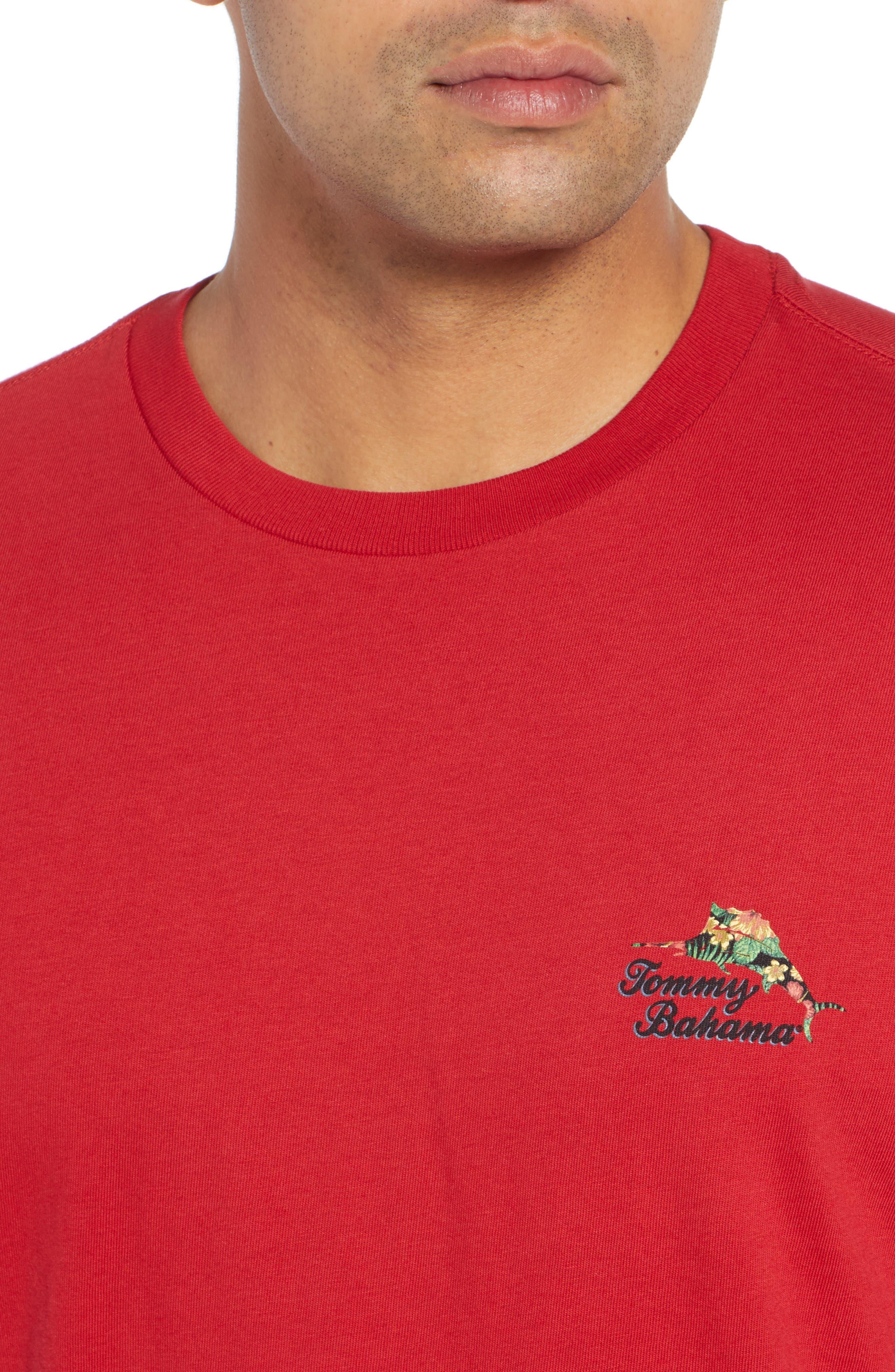 TOMMY BAHAMA, Alo-Ho Ho-Ha Graphic T-Shirt, Alternate thumbnail 4, color, SCOOTER RED