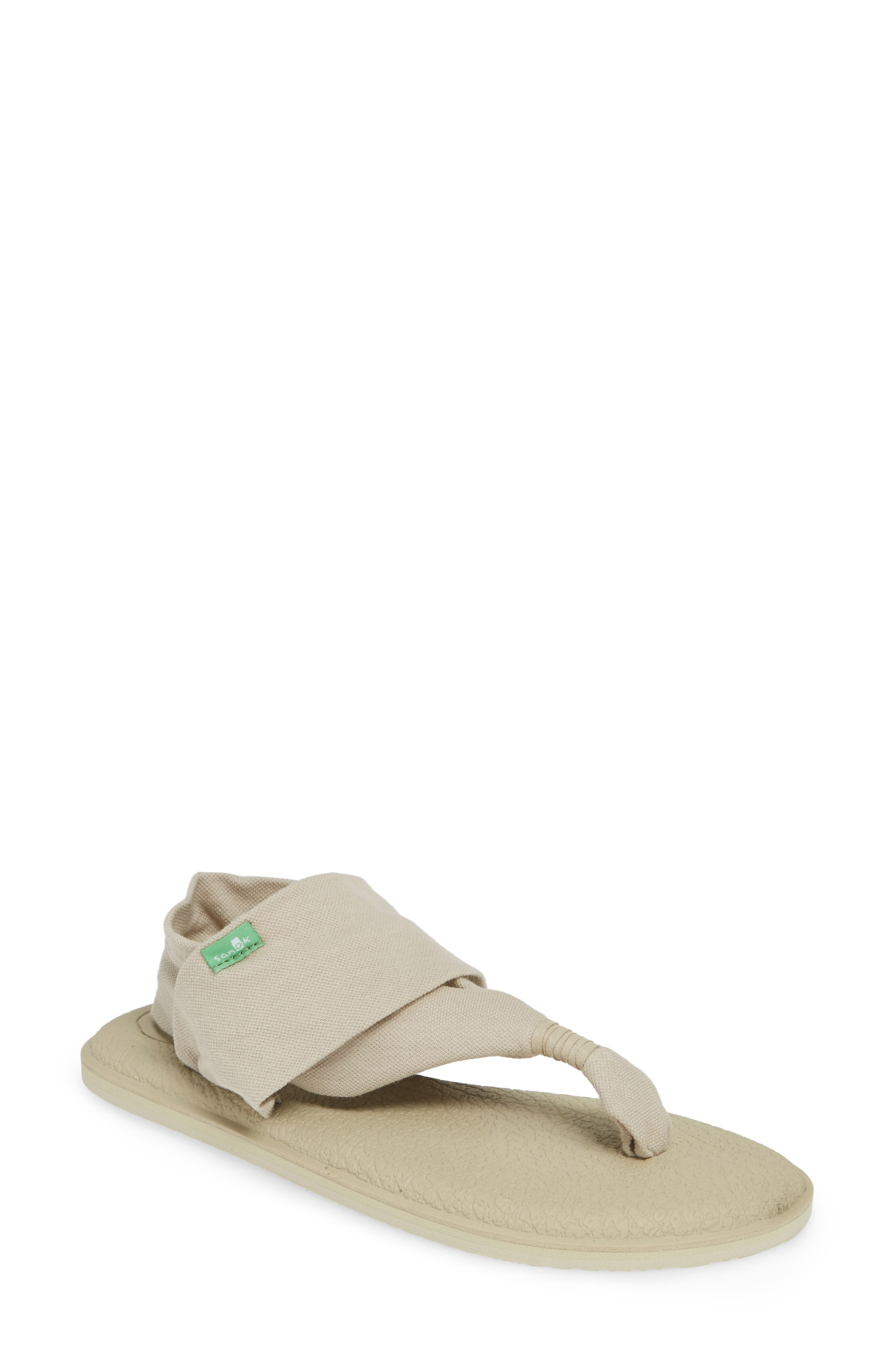 SANUK Yoga Sling 2 Metallic Sandal, Main, color, PEYOTE / METALLIC CHAMPAGNE