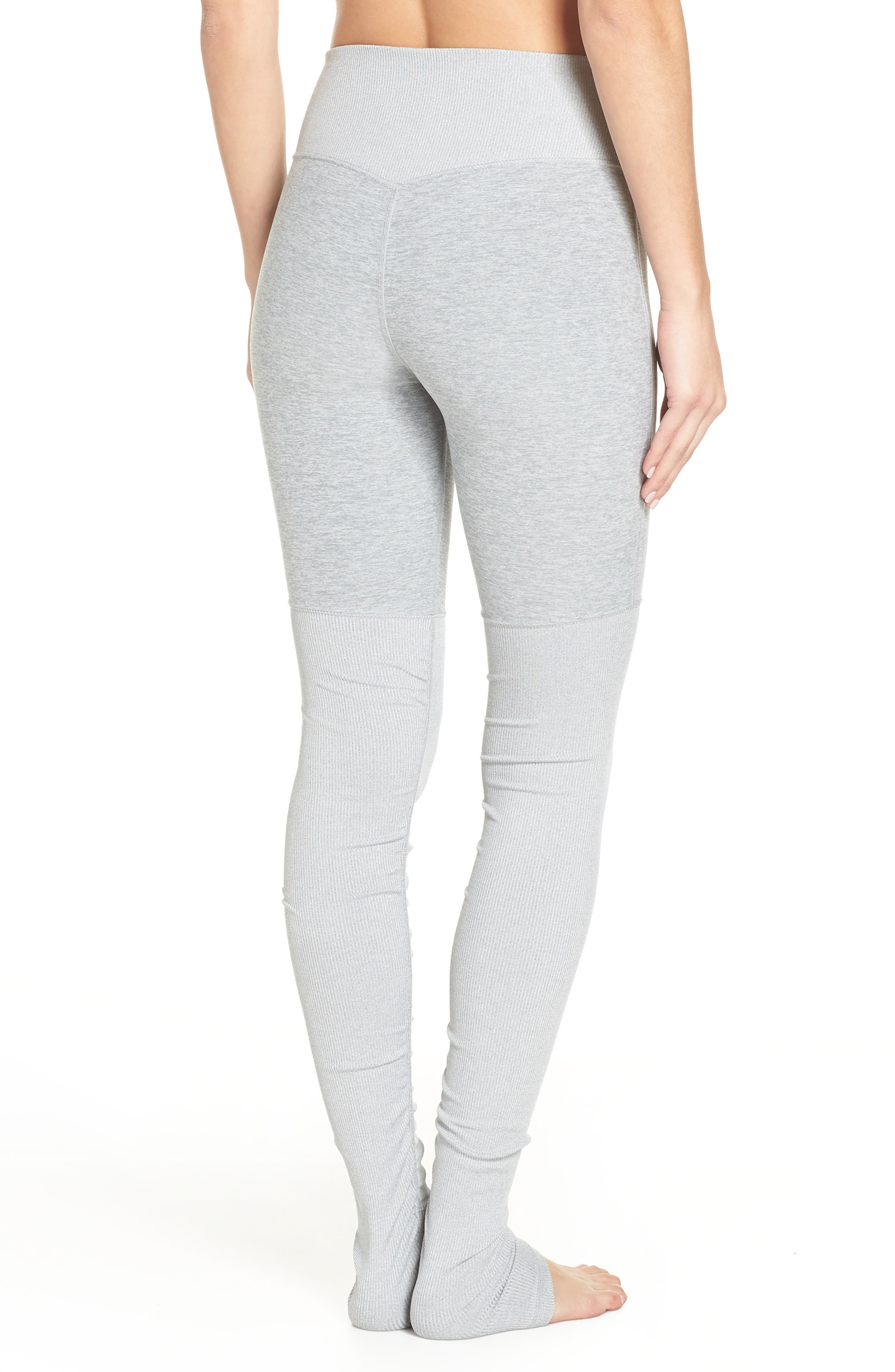 ALO, Alosoft Goddess Leggings, Alternate thumbnail 2, color, ZINC HEATHER