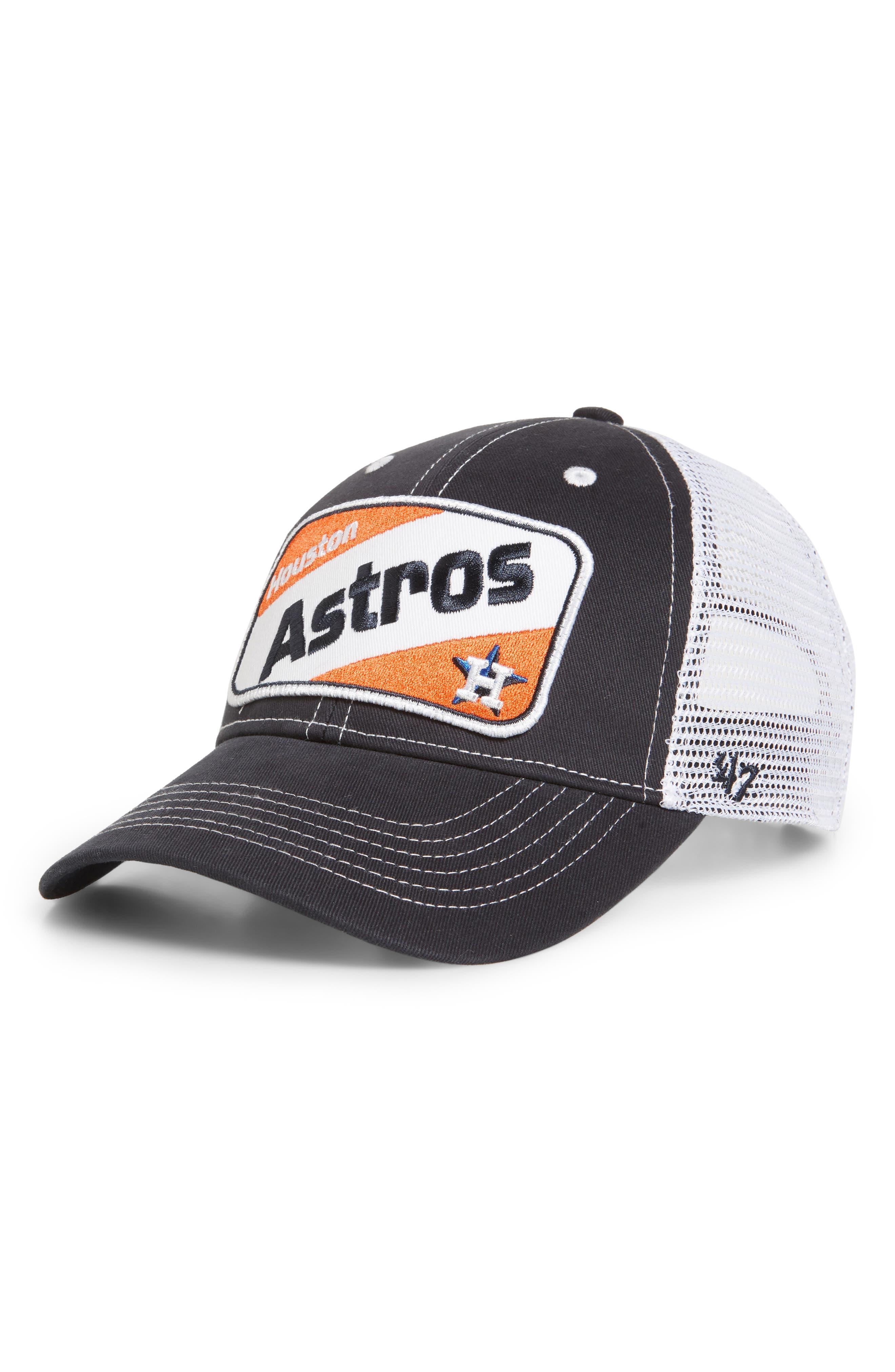 '47 Woodlawn Houston Astros Trucker Hat, Main, color, NAVY