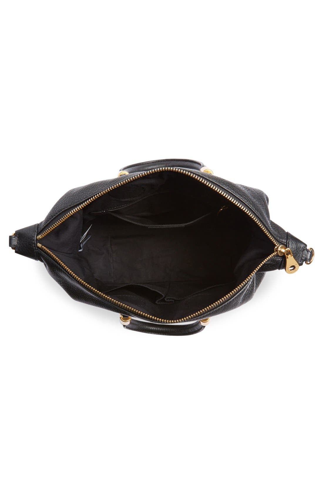 MARC JACOBS, MARC BY MARC JACOBS 'New Too Hot to Handle' Leather Satchel, Alternate thumbnail 2, color, 001