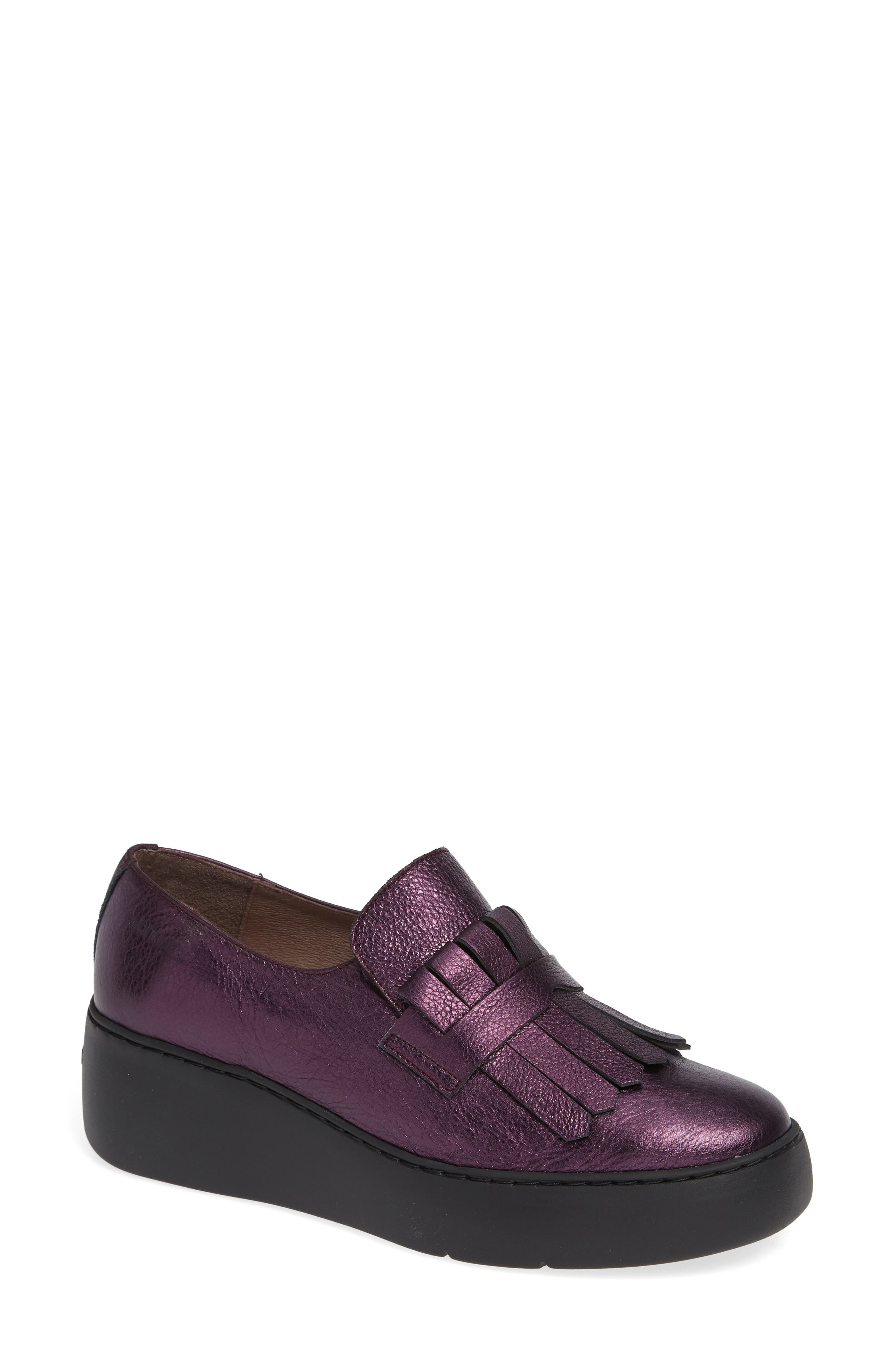 Wonders Kiltie Platform Loafer - Purple