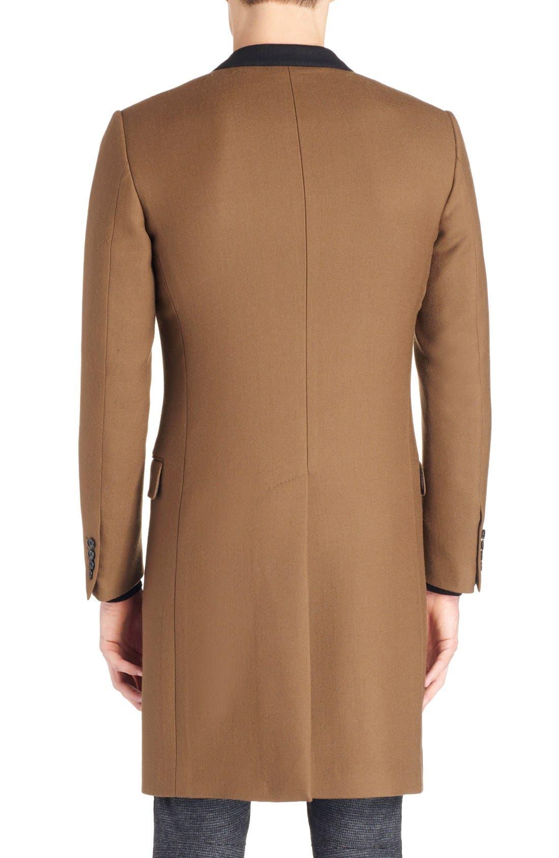 LANVIN, Wool Overcoat, Alternate thumbnail 6, color, 230