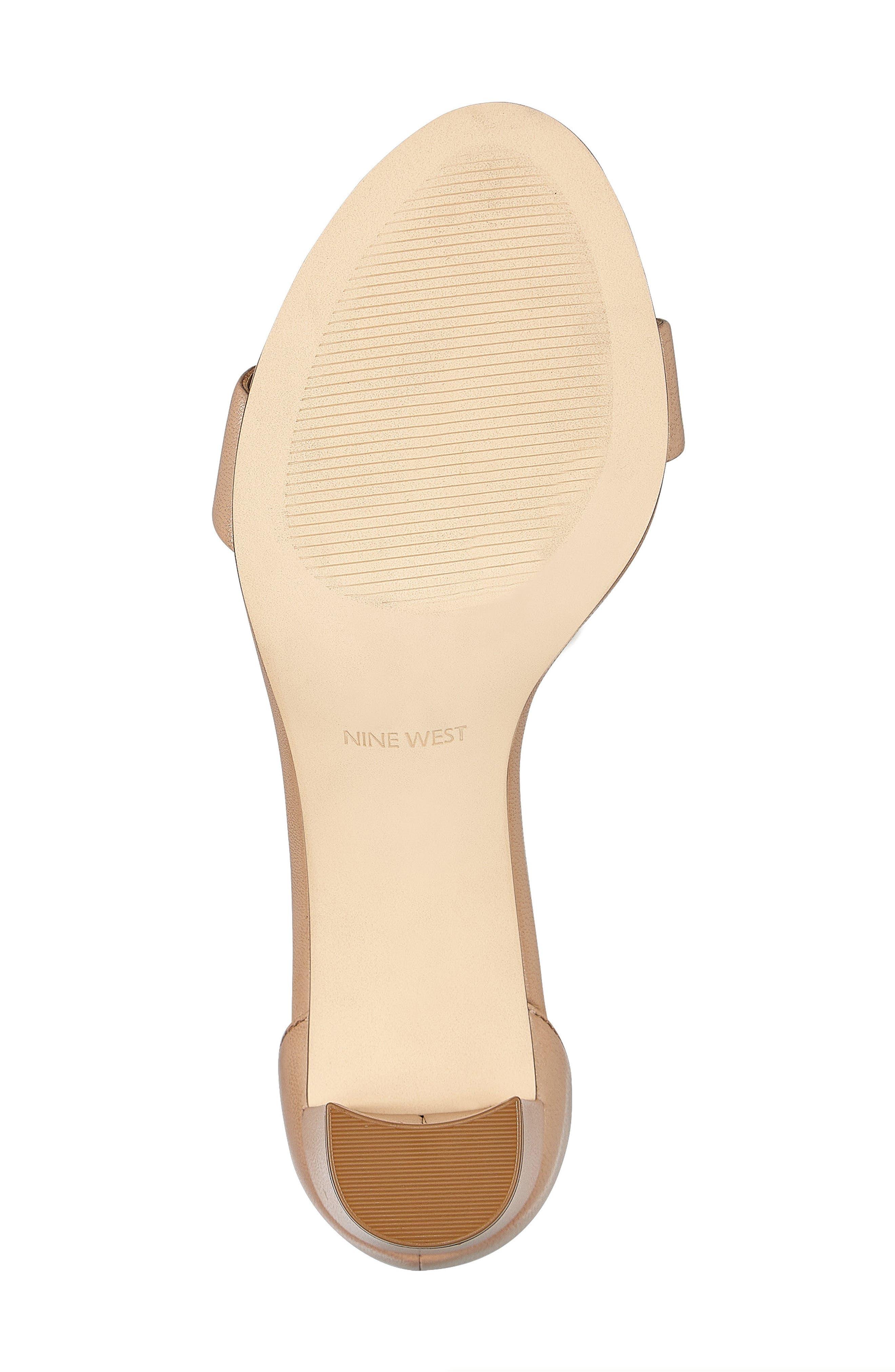 NINE WEST, Pruce Ankle Strap Sandal, Alternate thumbnail 6, color, LIGHT NATURAL LEATHER
