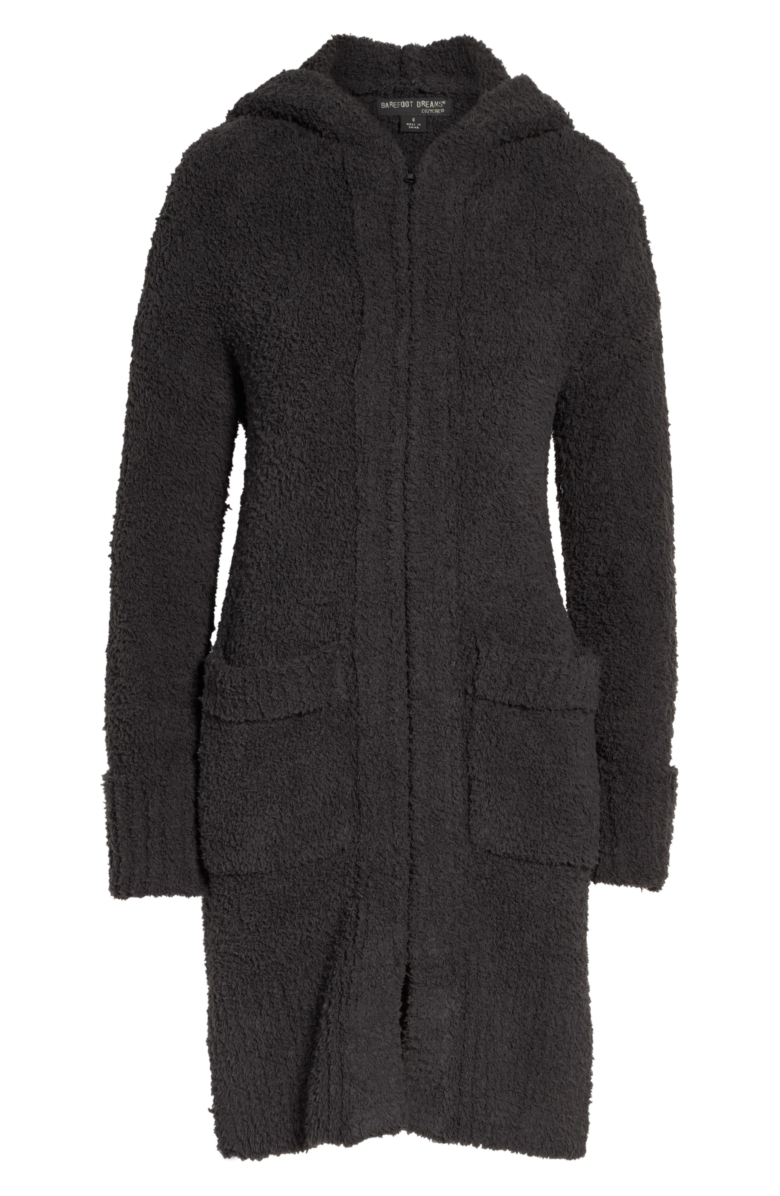 BAREFOOT DREAMS<SUP>®</SUP>, CozyChic<sup>®</sup> Nor-Cal Lounge Coat, Alternate thumbnail 6, color, CARBON